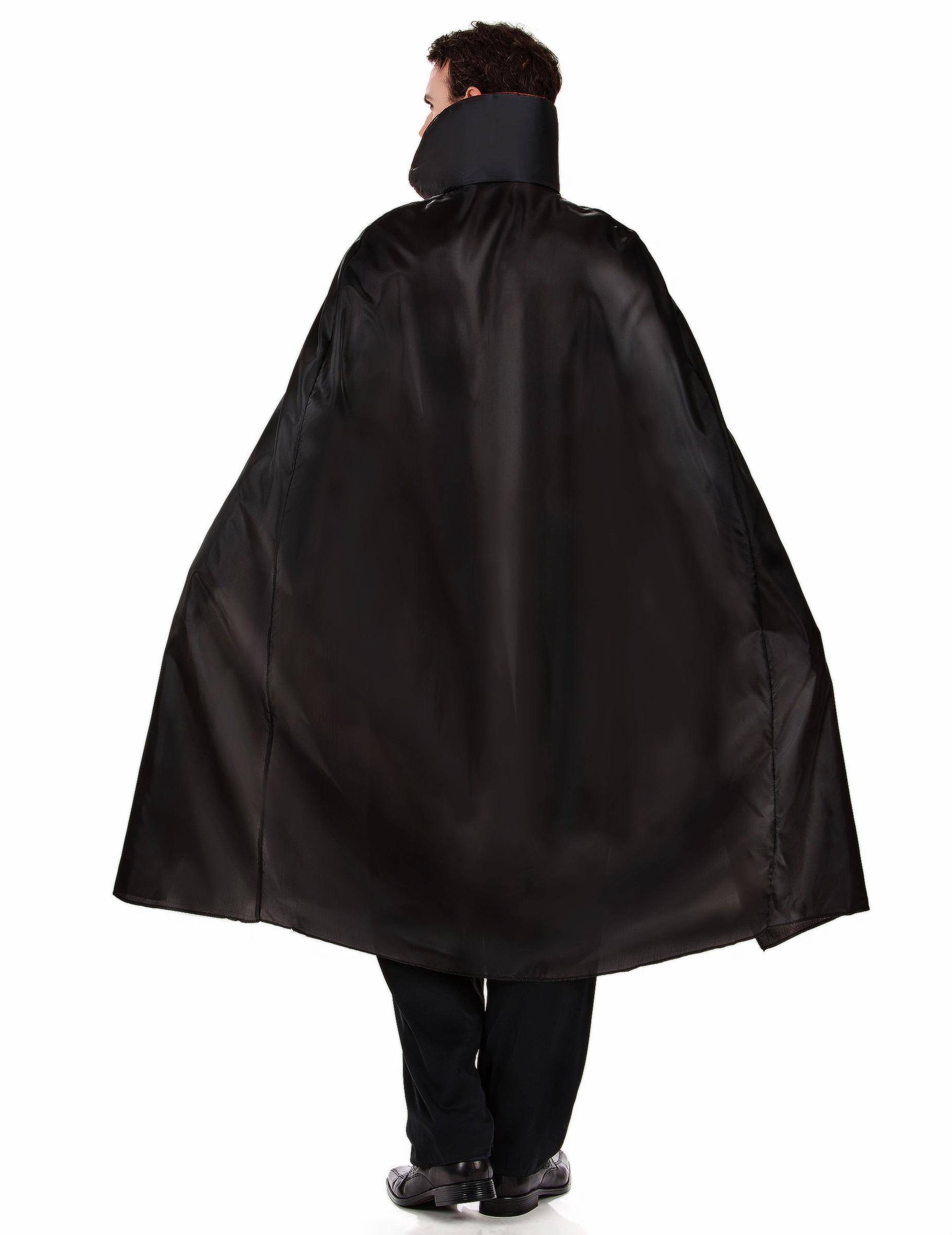 Vampir Kostüm für Herren Blutsauger Halloweenkostüm schwarz bordeaux
