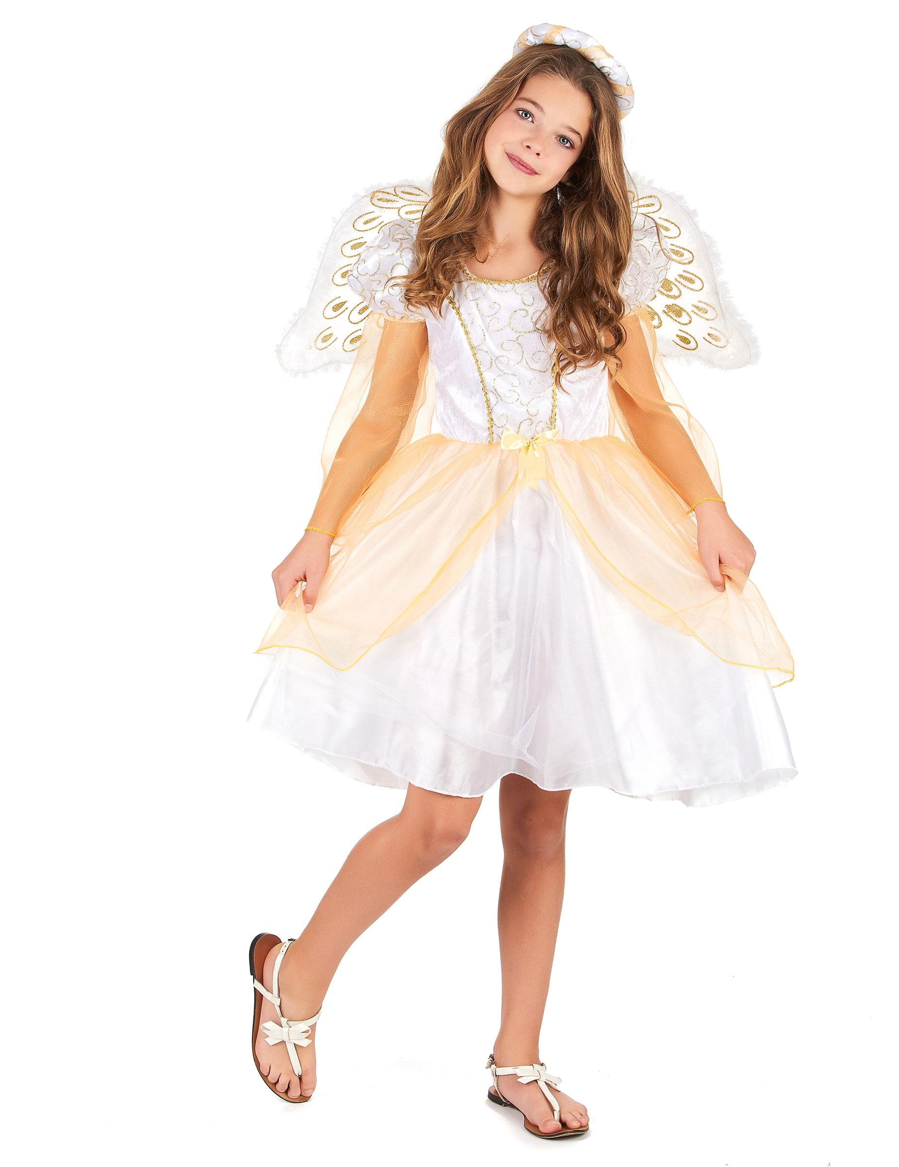Engel Kinder Kostum Weiss Gold Gunstige Faschings Kostume Bei