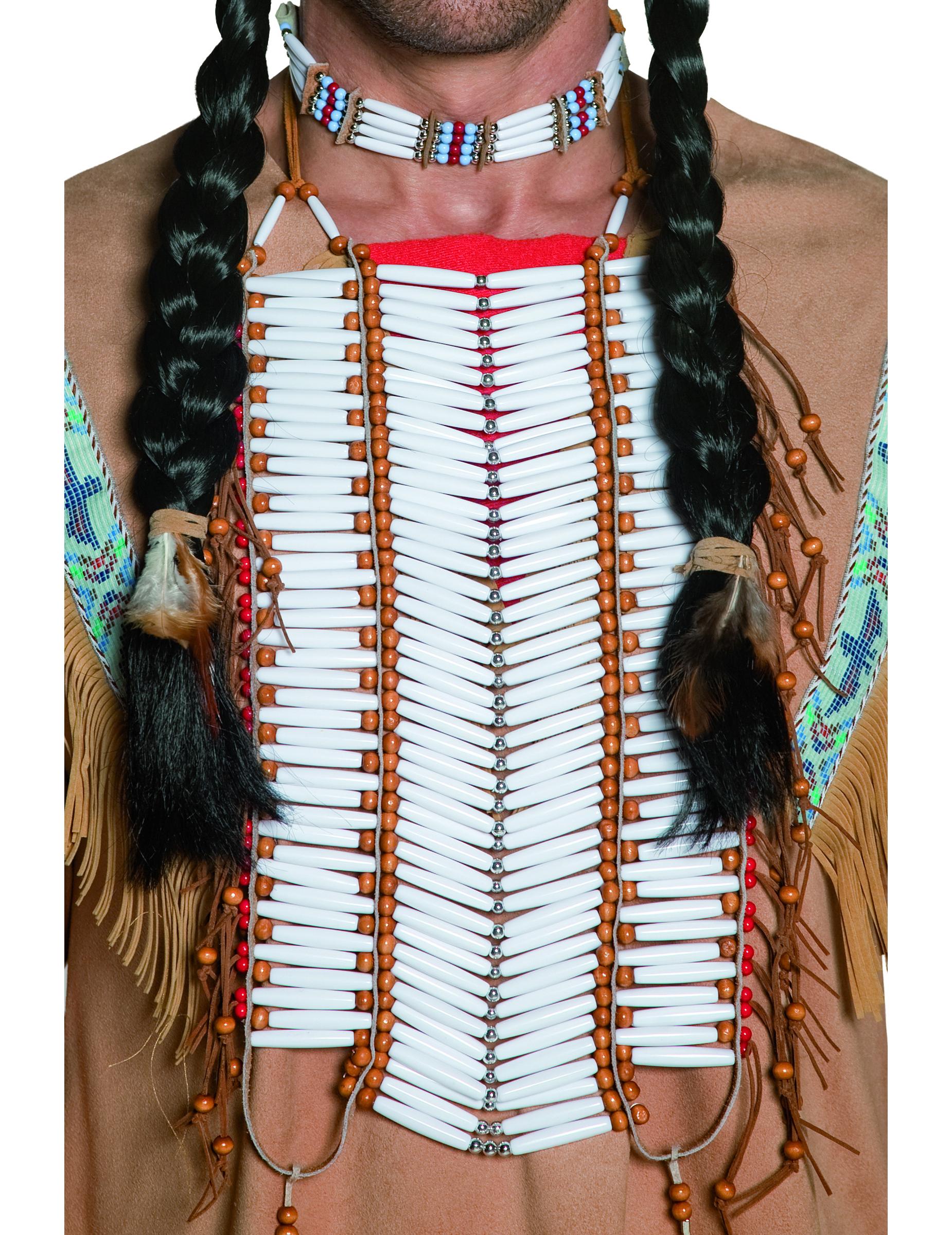 indianer halsschmuck weiss g nstige faschings accessoires zubeh r bei karneval megastore. Black Bedroom Furniture Sets. Home Design Ideas