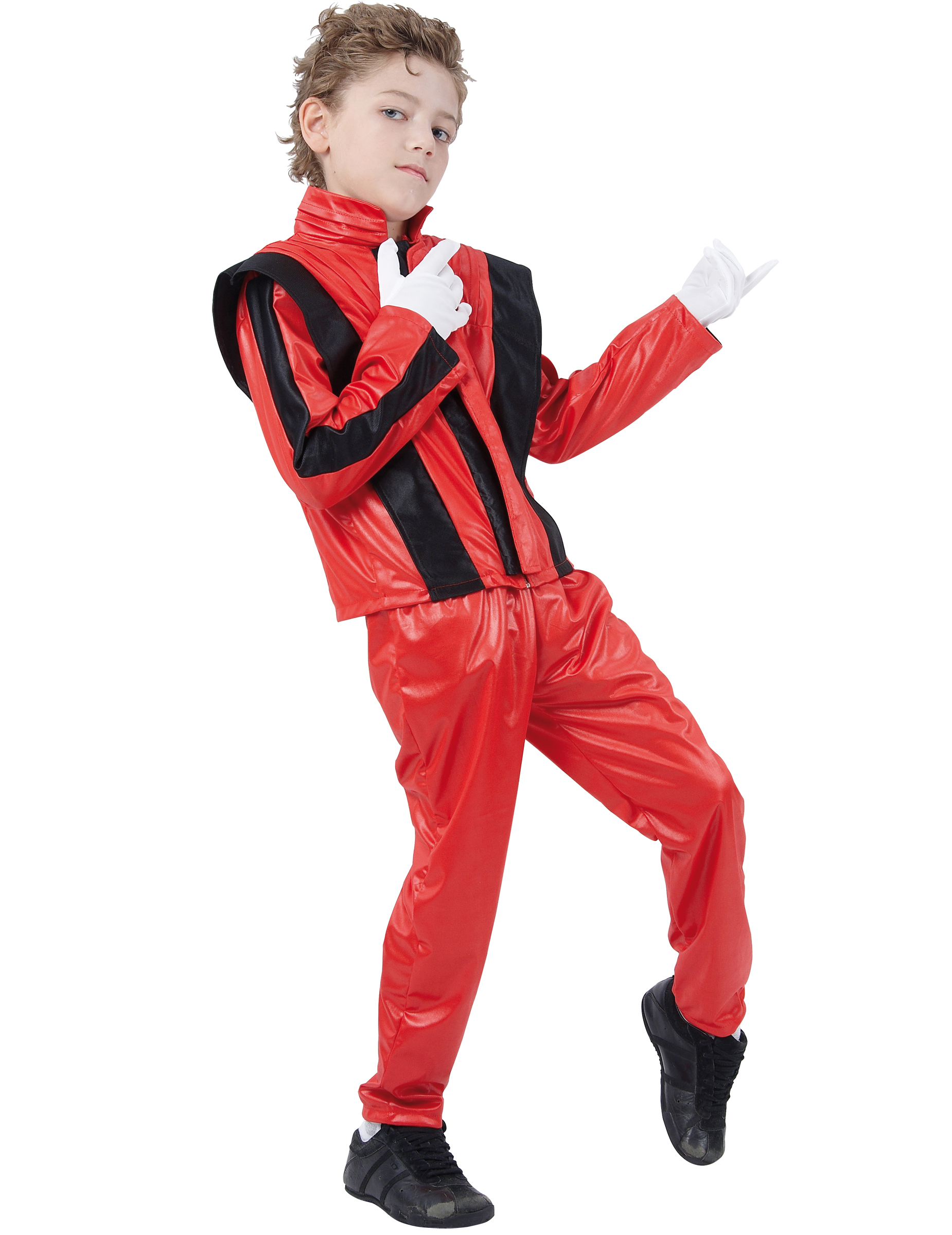 Popstar Kinderkostum Rockstar Kostum Fur Kids Rot Schwarz Gunstige