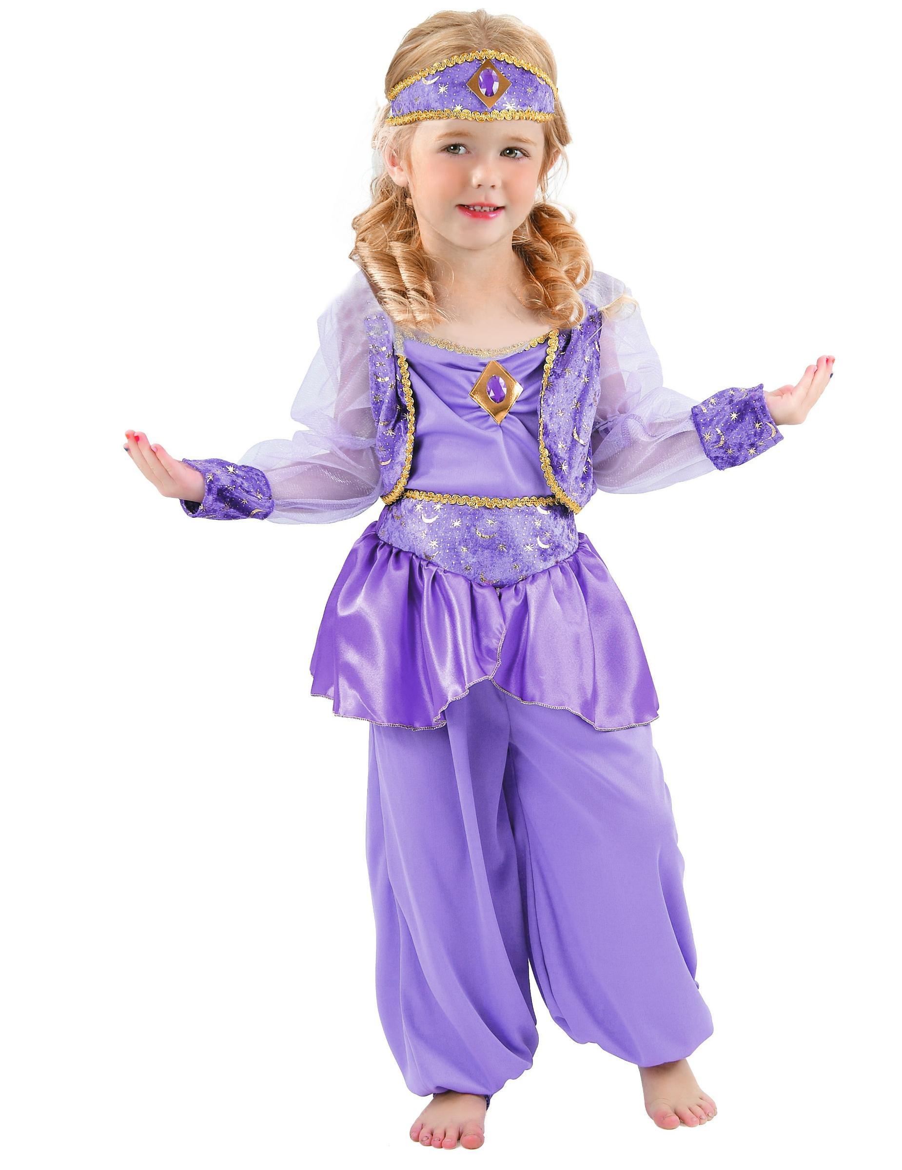 Orientalische Tanzerin Kinderkostum Lila Gold Gunstige Faschings