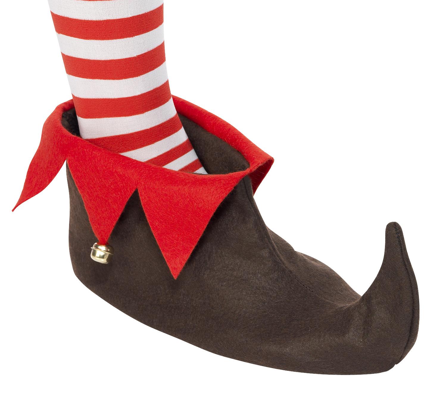 Wichtel Schuhe Weihnachten braun-rot , günstige Faschings ...