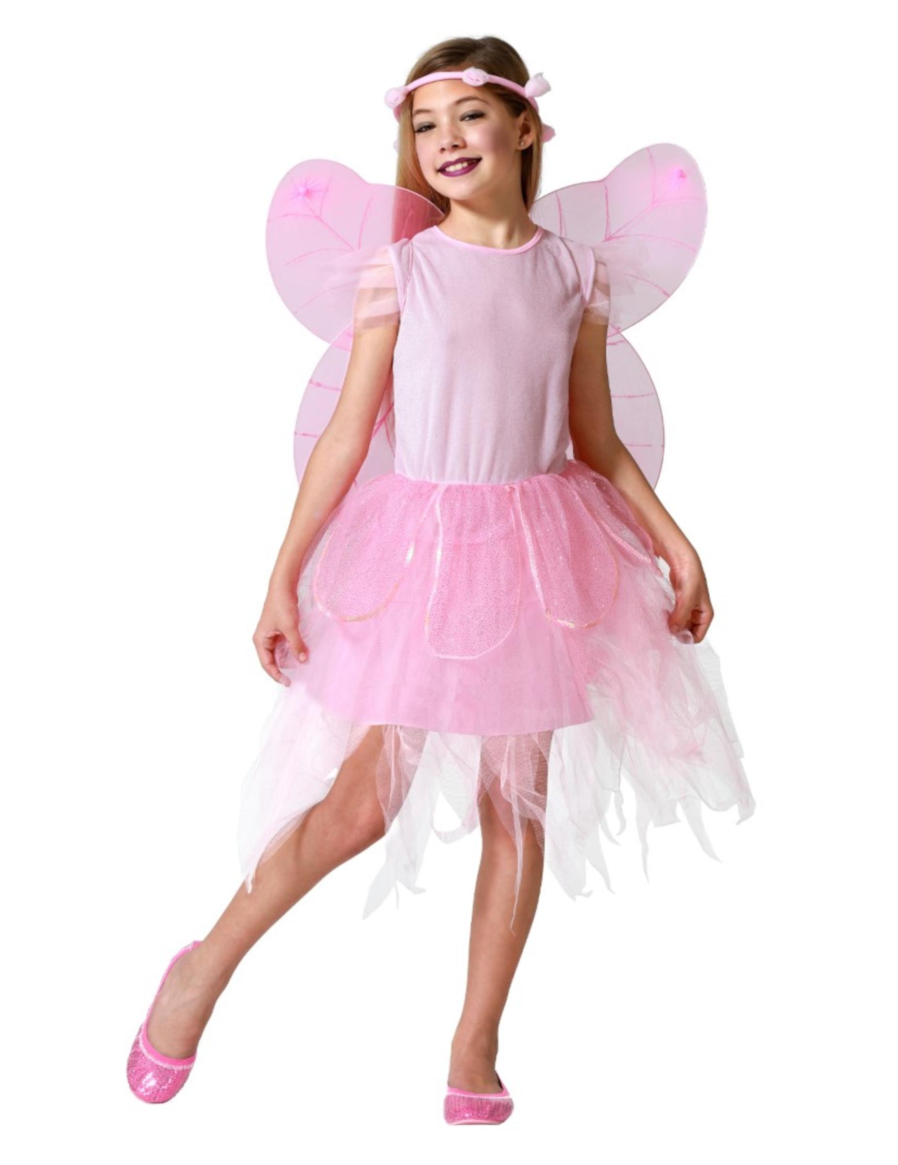 beliebte Geschäfte kommt an Designermode Kleine Fee Kinderkostüm Elfe rosa
