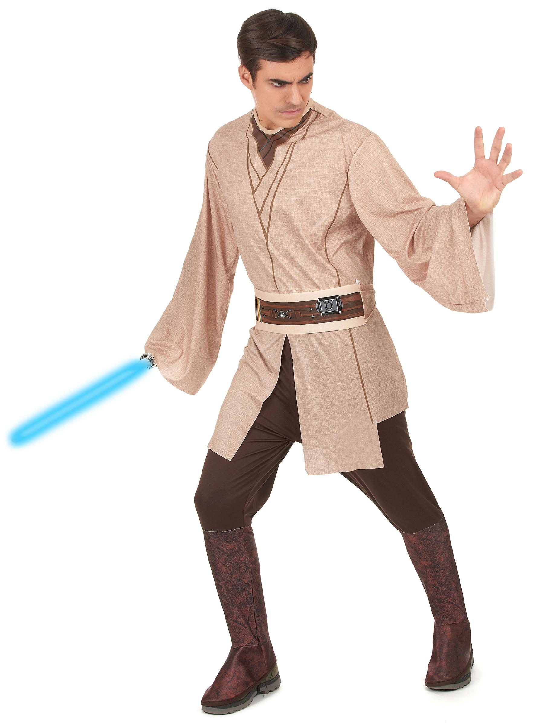 jedi ritter star wars kostum lizenzware beige braun