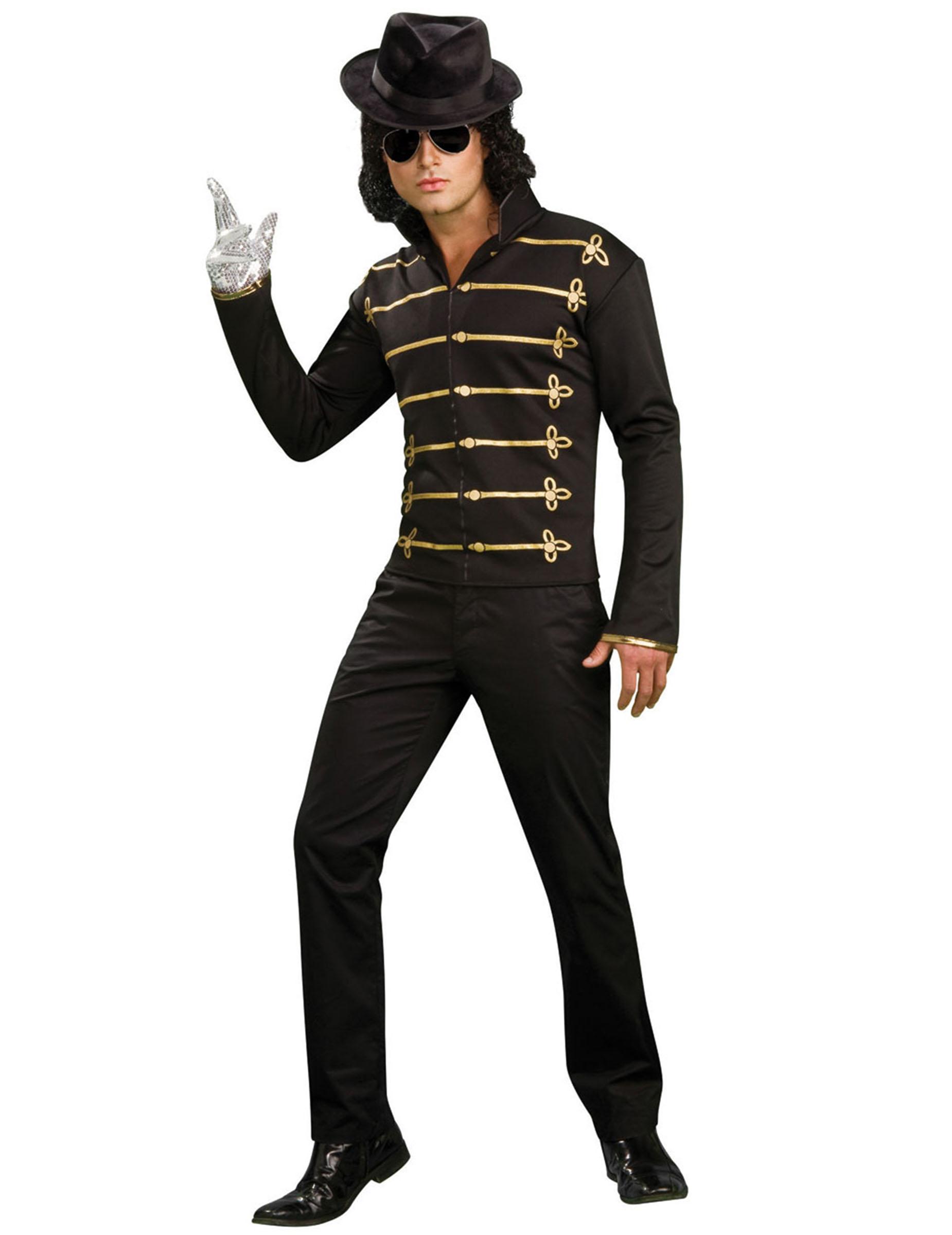 michael jackson jacke schwarz gold g nstige faschings kost me bei karneval megastore. Black Bedroom Furniture Sets. Home Design Ideas