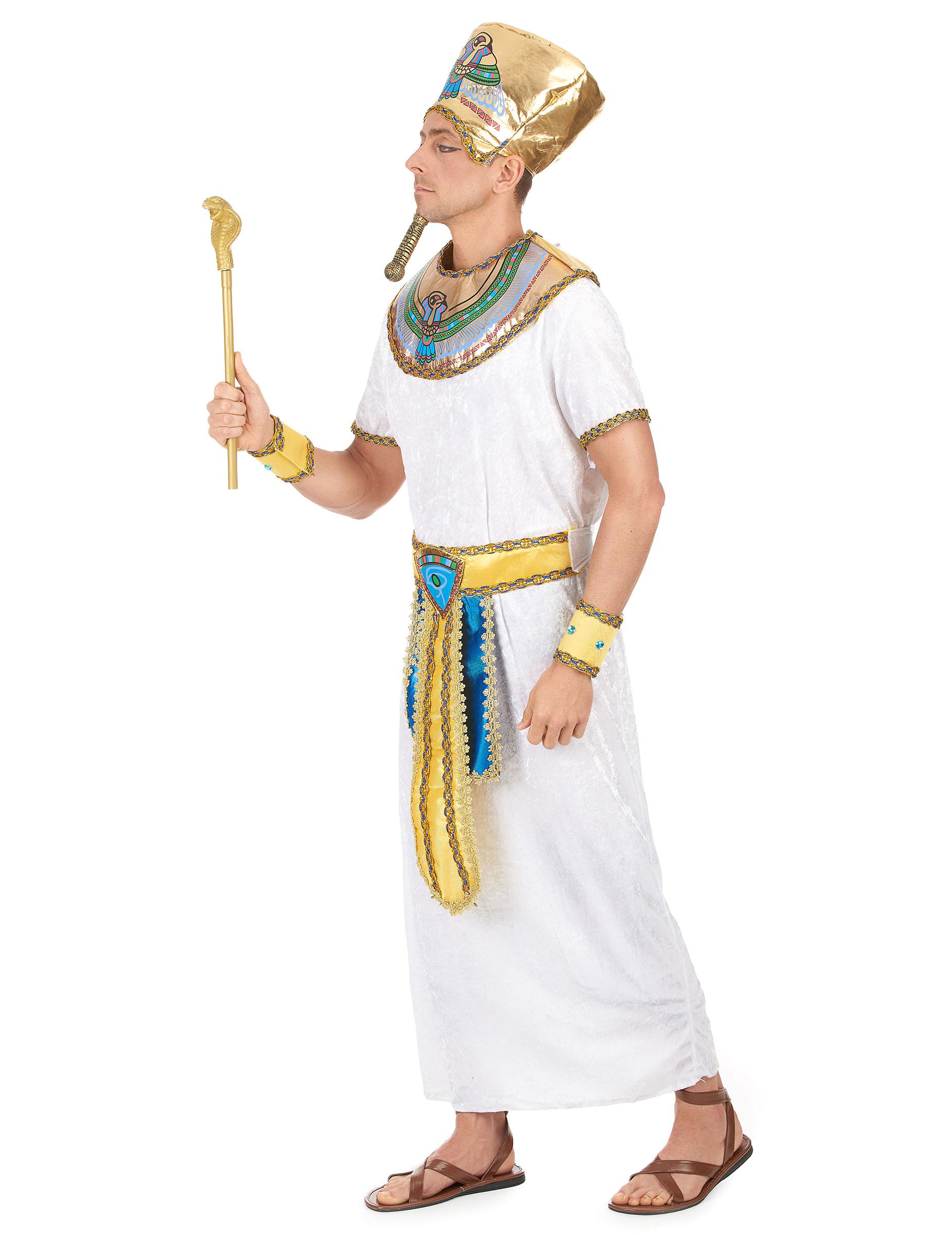 gyptisches pharaonenpaar zwei kost me f r erwachsene wei mit gold g nstige faschings. Black Bedroom Furniture Sets. Home Design Ideas