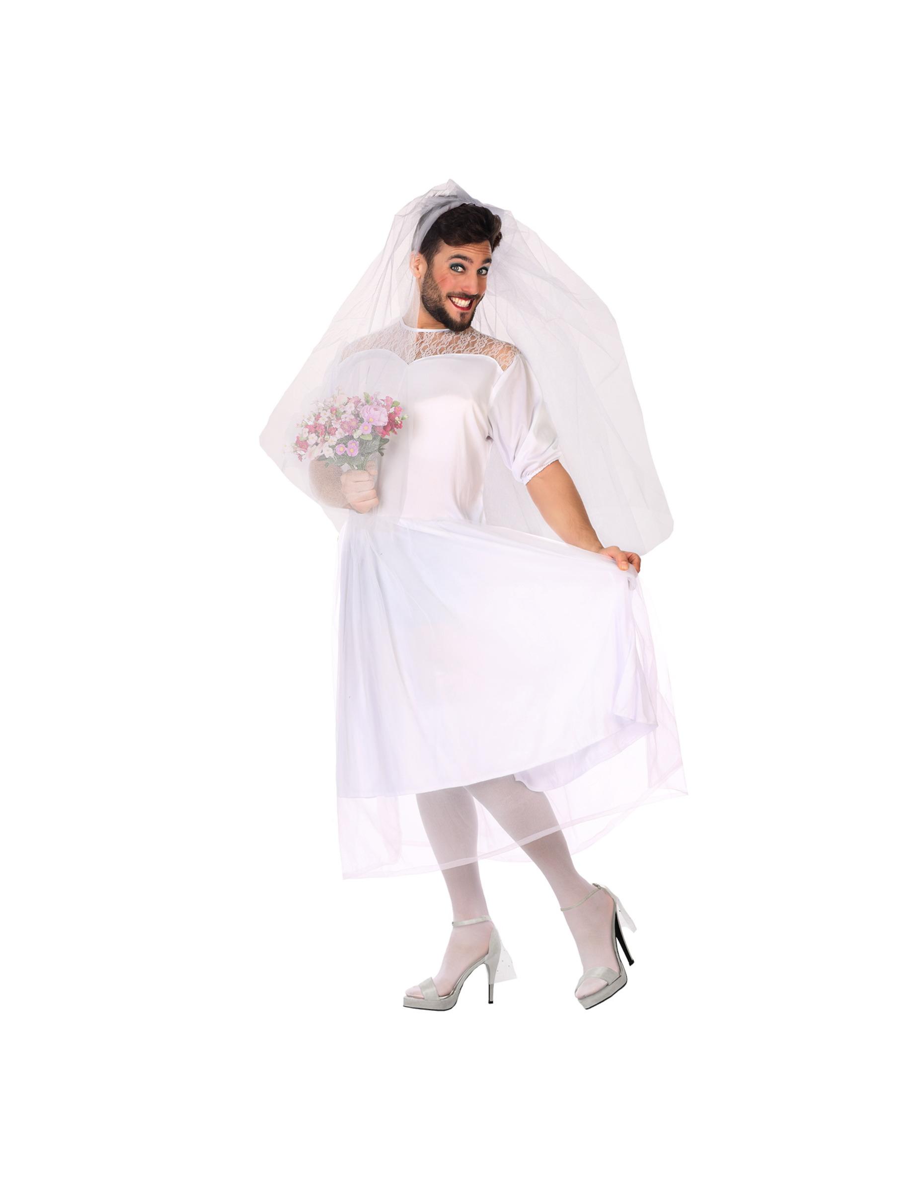 Brautkleid Männerballett-Kostüm Braut weiss