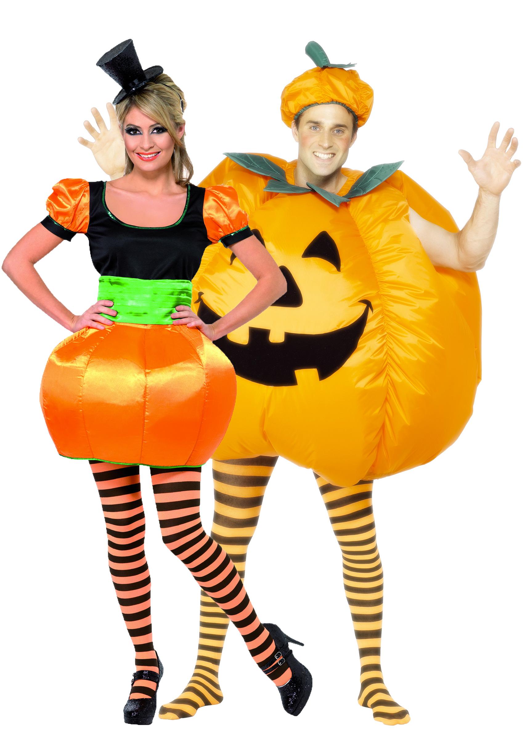 halloween k rbis paarkost m f r erwachsene orange. Black Bedroom Furniture Sets. Home Design Ideas