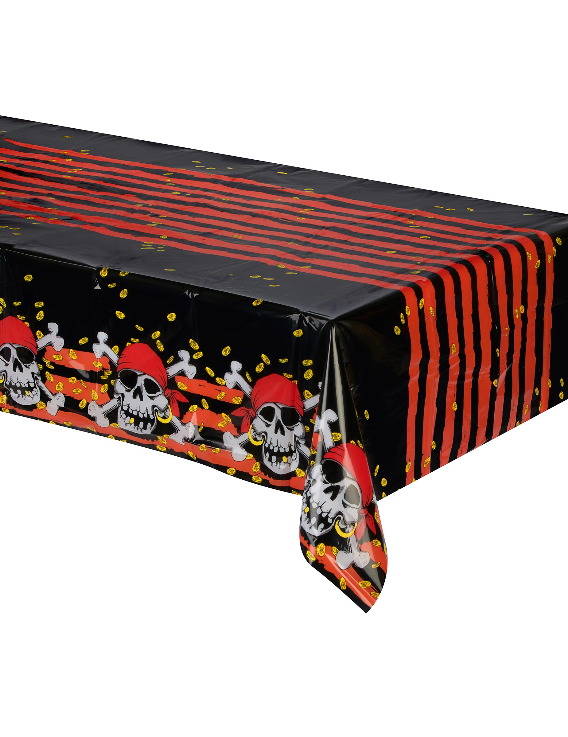 tischdecke totenkopf skull piratenparty deko rot schwarz weiss 120x180cm g nstige faschings. Black Bedroom Furniture Sets. Home Design Ideas