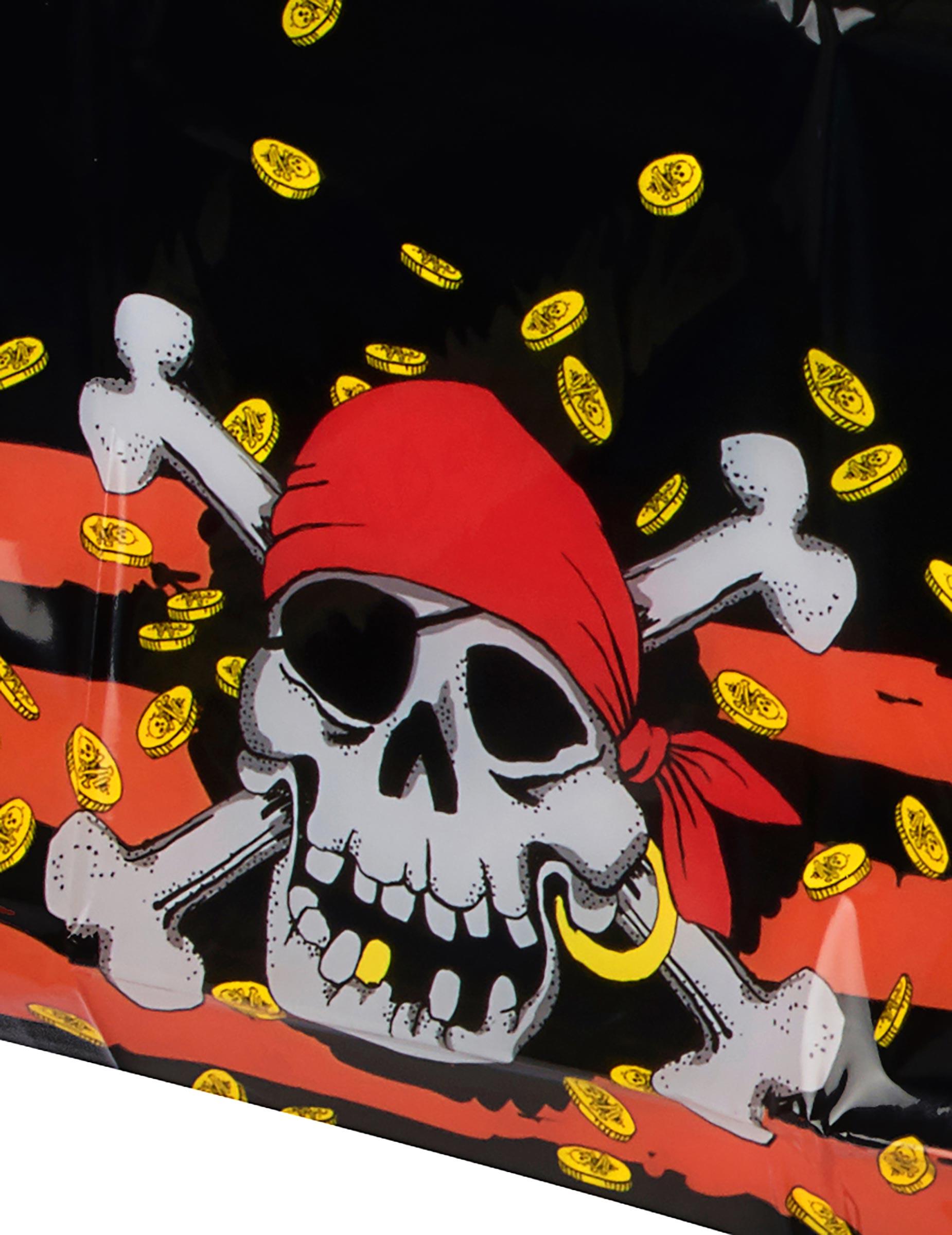 tischdecke totenkopf skull piratenparty deko rot schwarz. Black Bedroom Furniture Sets. Home Design Ideas