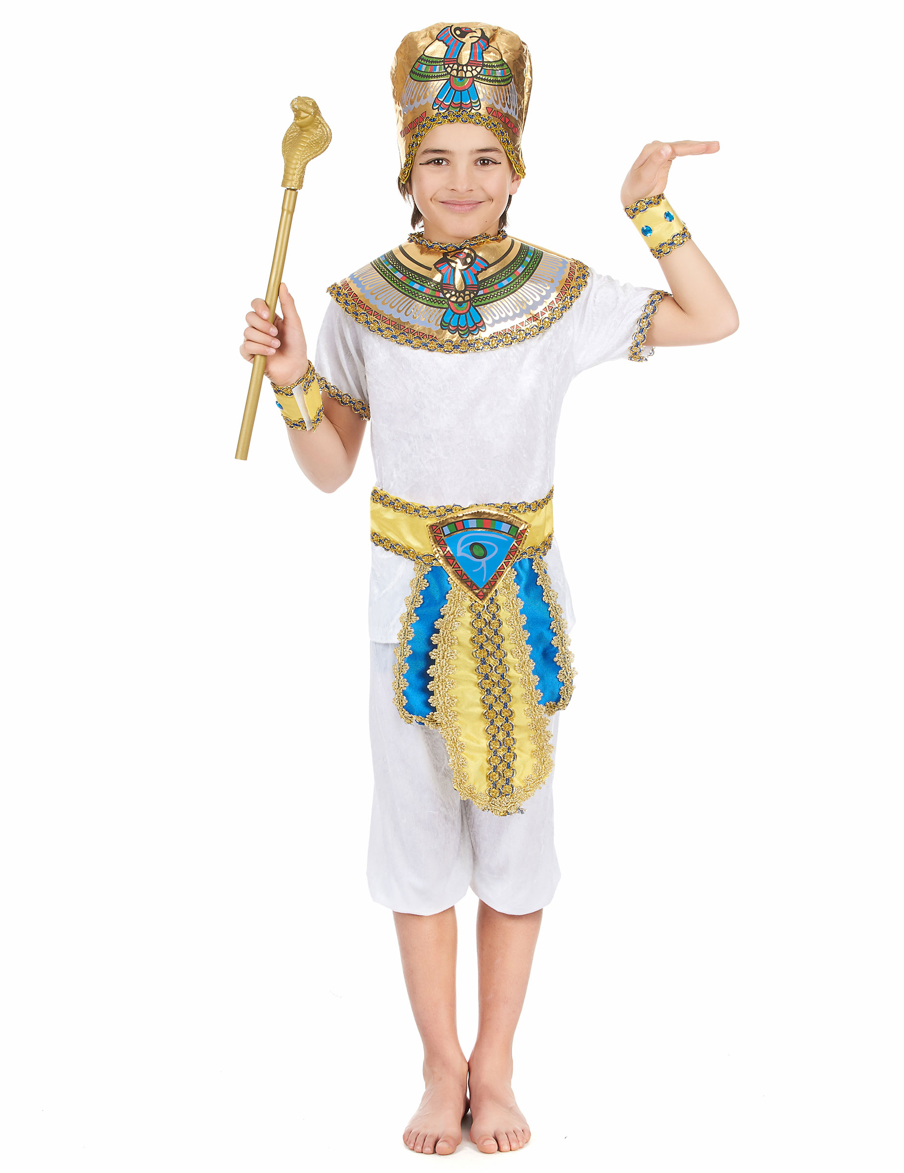 pharao kinder kost m weiss bunt g nstige faschings kost me bei karneval megastore. Black Bedroom Furniture Sets. Home Design Ideas