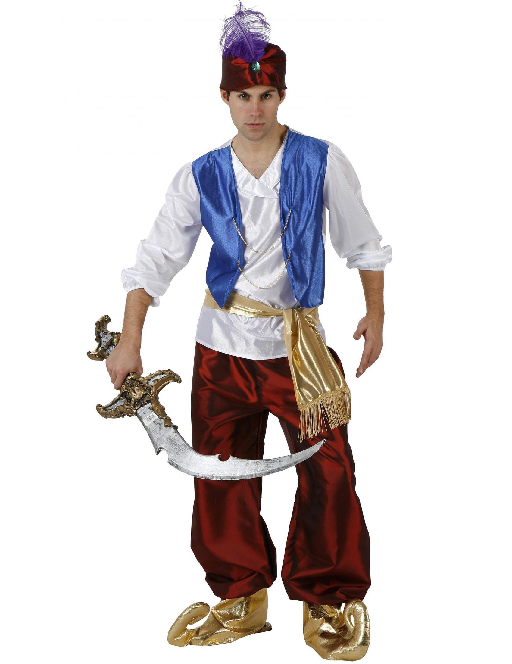 Kostum Arabischer Prinz 1001 Nacht Rot Weiss Blau Gunstige