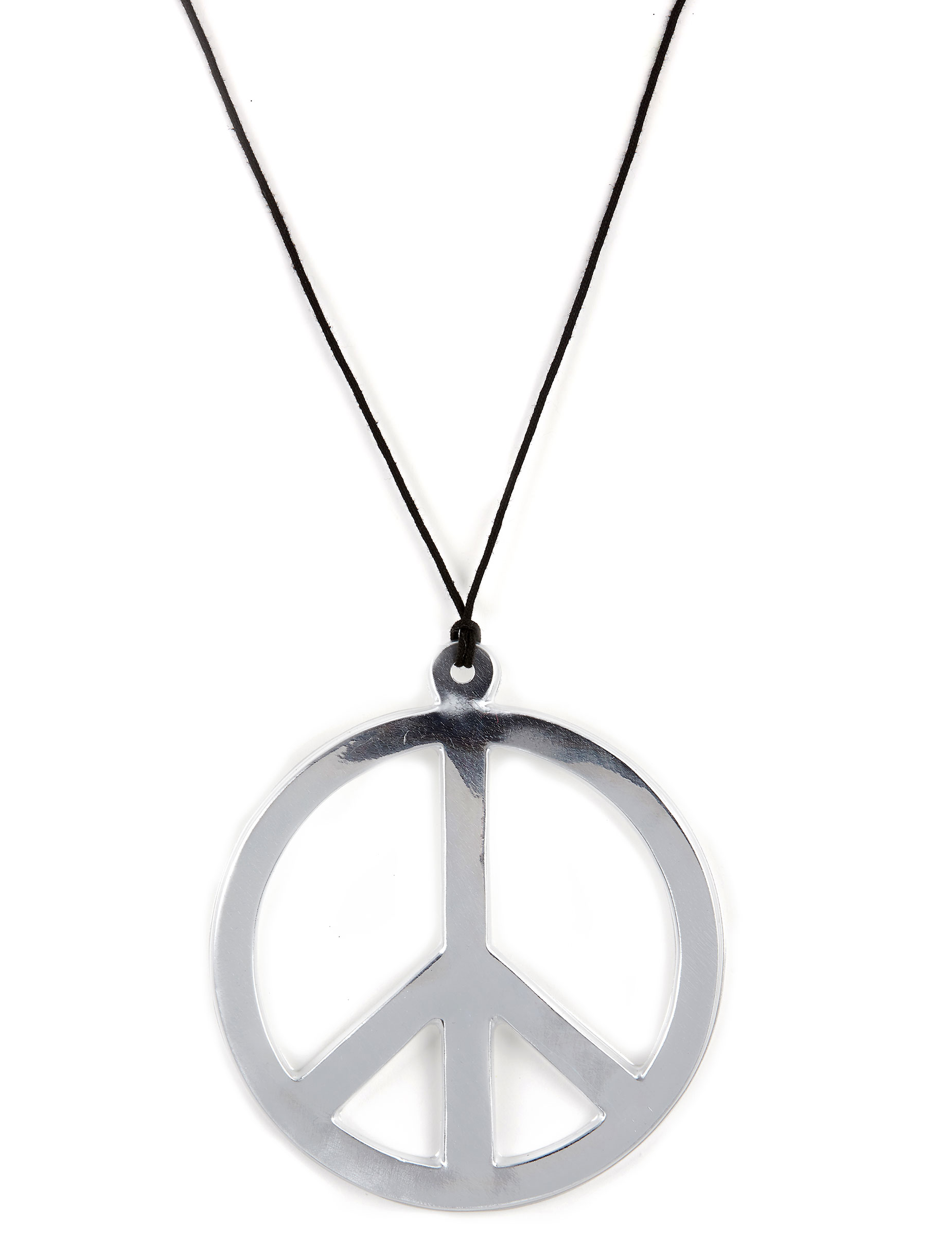 hippie kette peace kette silber g nstige faschings. Black Bedroom Furniture Sets. Home Design Ideas
