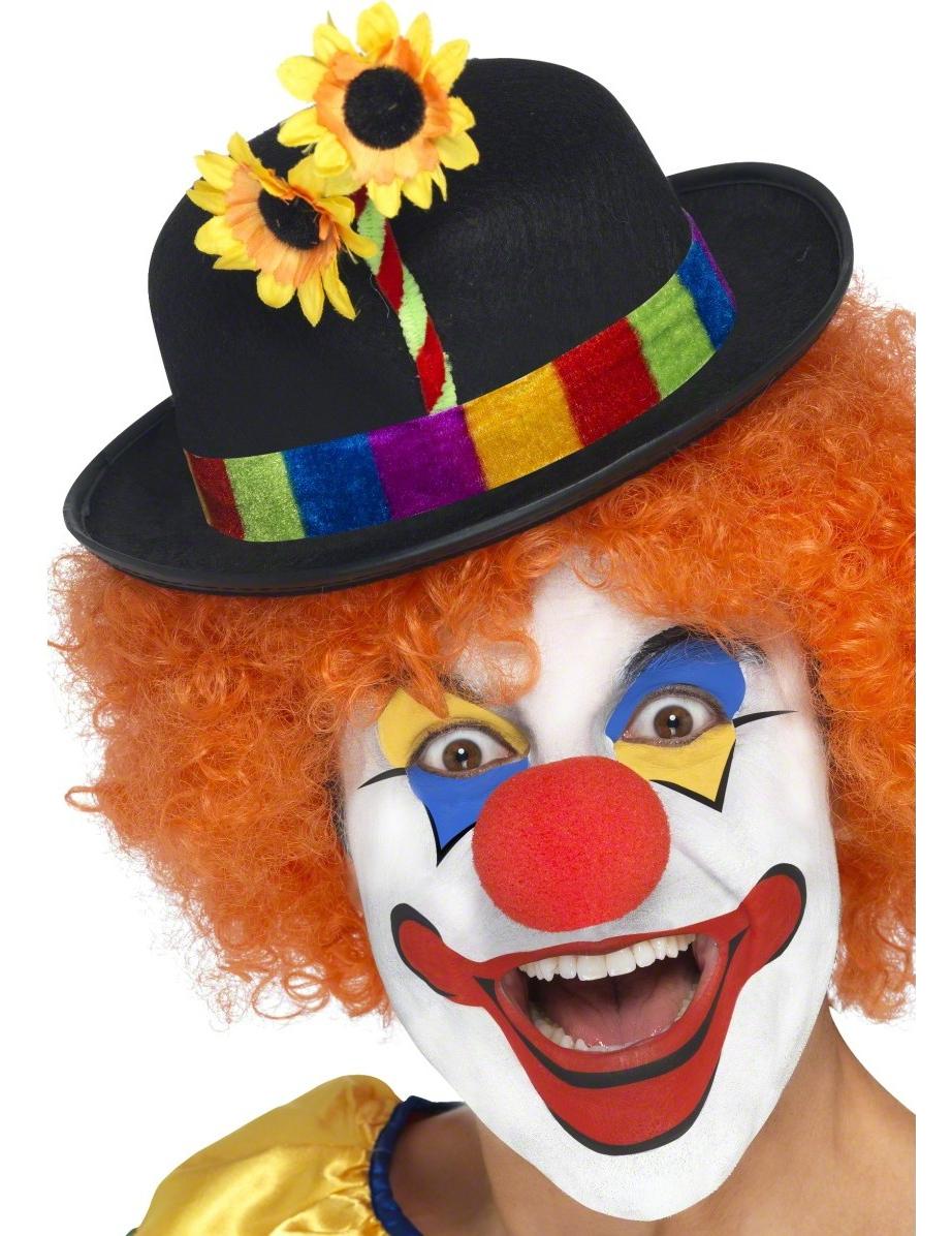Clown Hut Melone Blume Schwarz Bunt Gunstige Faschings Accessoires