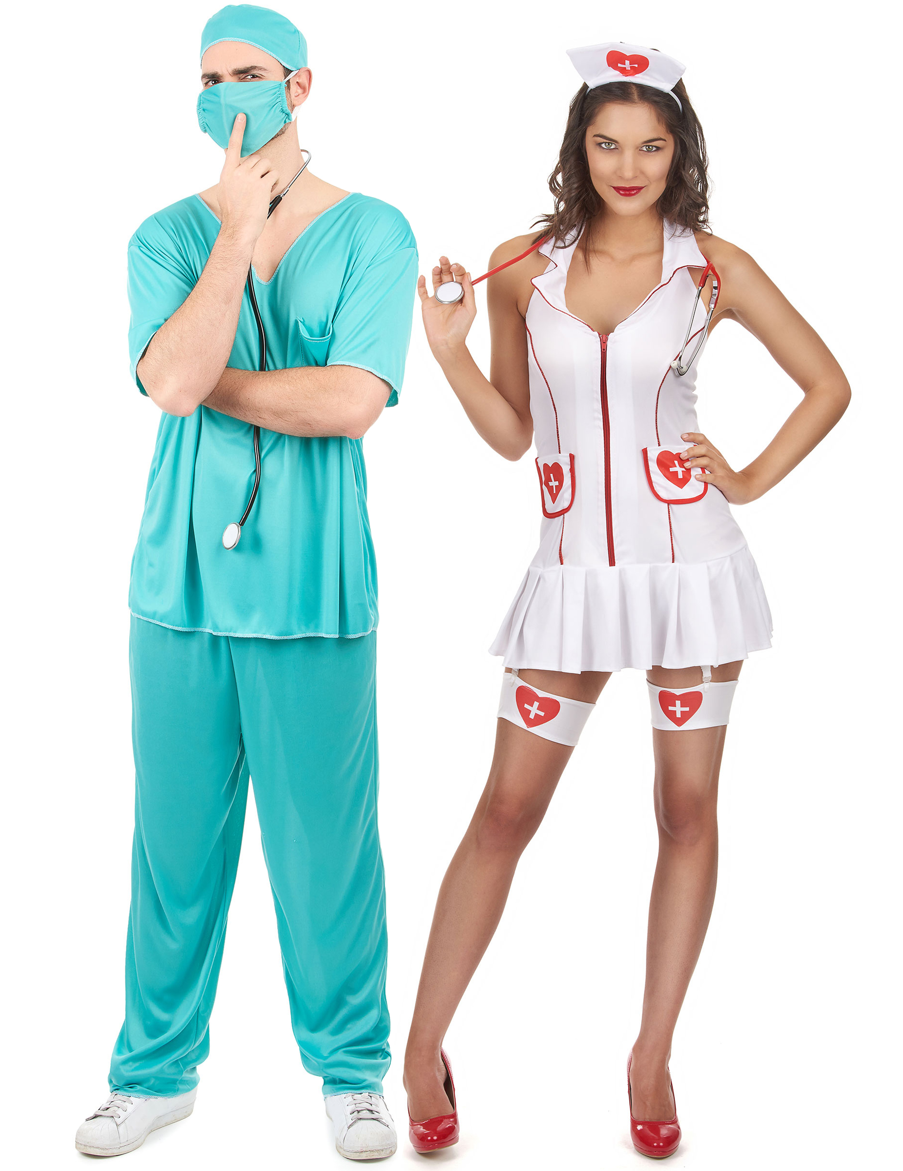 Strümpfe Krankenschwester Arzt Doktor Karneval Fasching