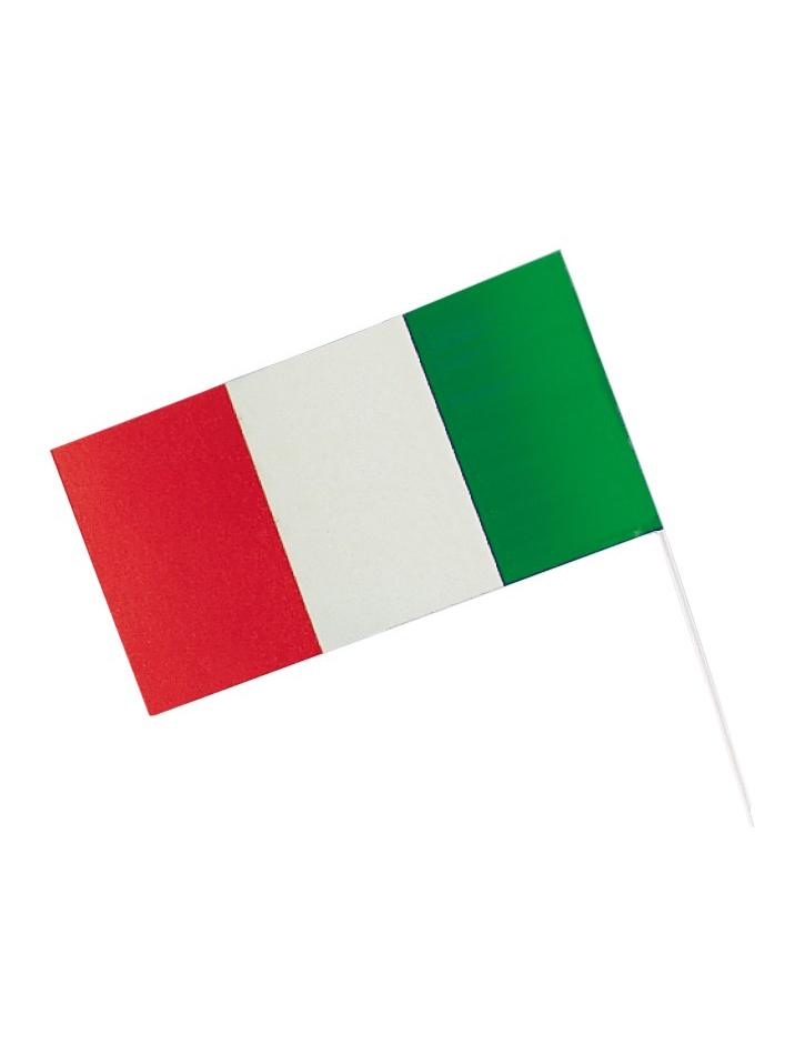 fahne italien fussball fanartikel rot weiss gr n 12x23cm g nstige faschings partydeko. Black Bedroom Furniture Sets. Home Design Ideas