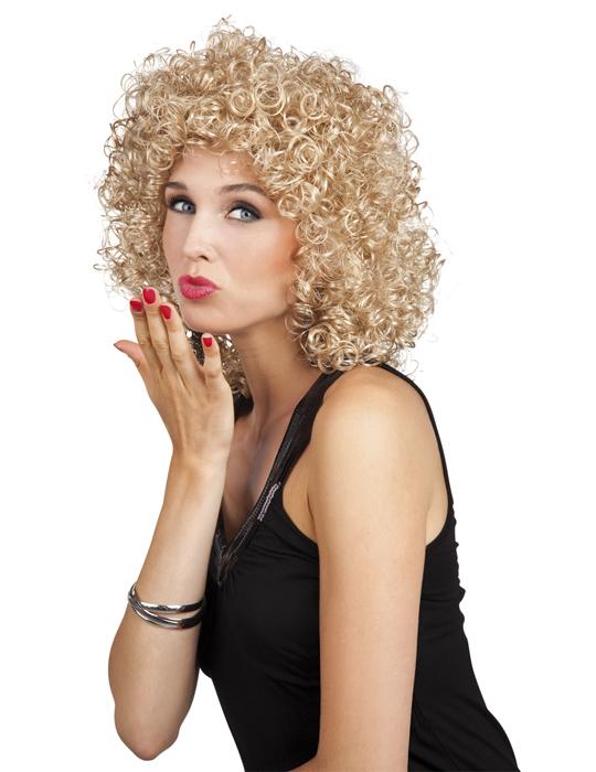 Top Marken unverwechselbares Design großer Rabattverkauf 80er-Jahre Minipli Perücke blond