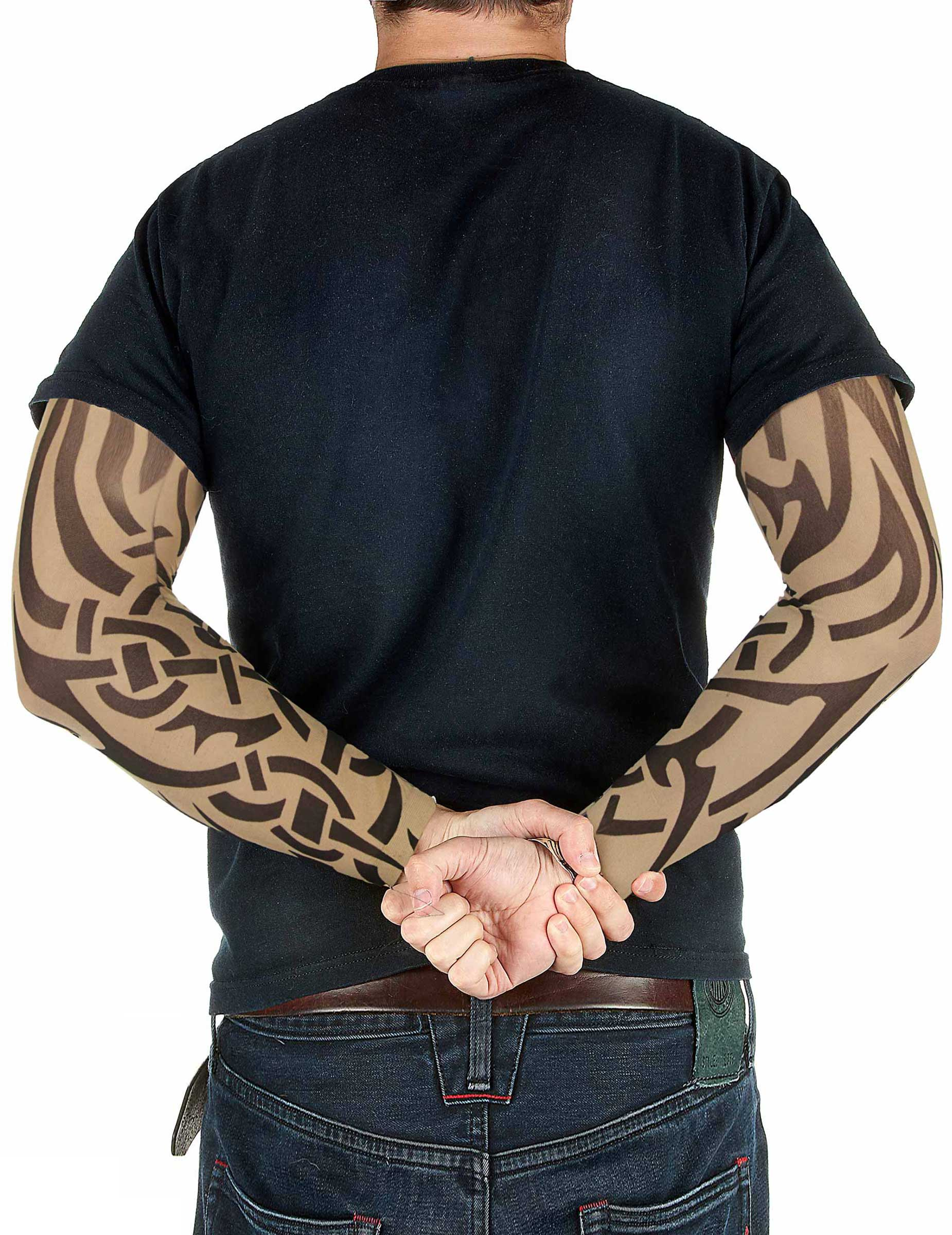 tattoo rmel rocker biker bunt g nstige faschings. Black Bedroom Furniture Sets. Home Design Ideas