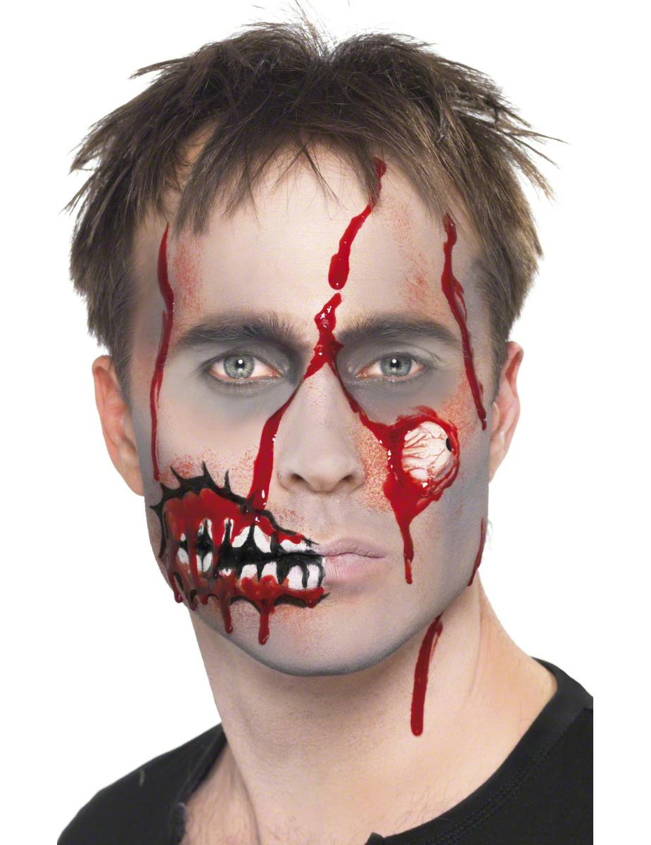 Zombie Make Up Set Blood Doll Rot Weiss Gunstige Faschings Make Up