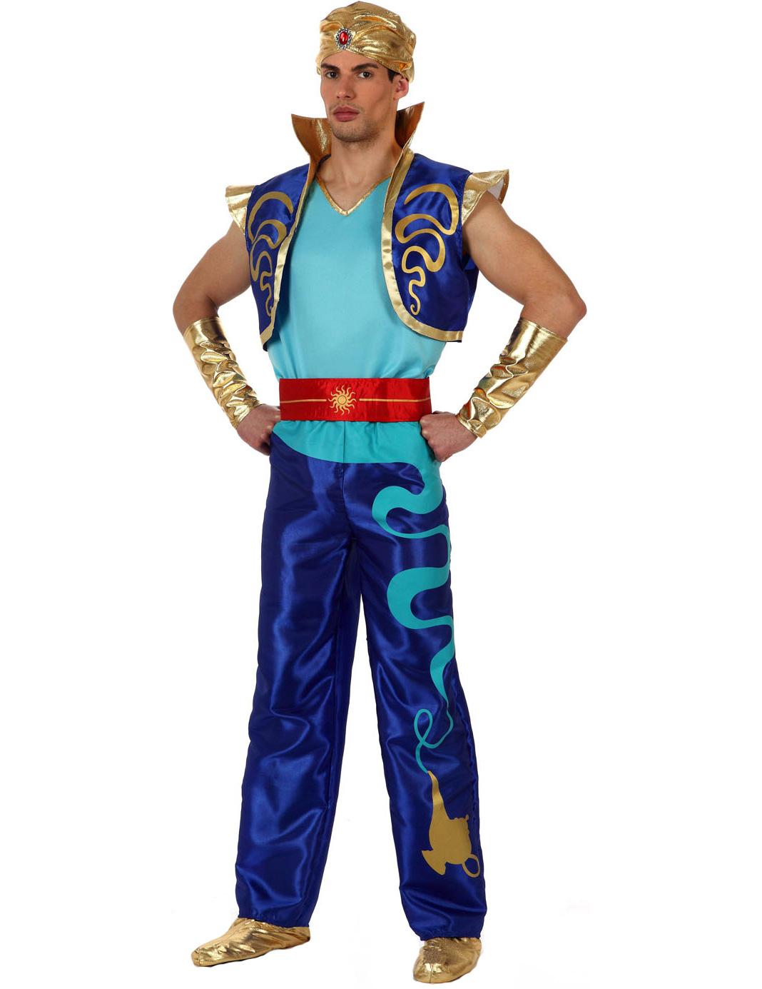 Orientalischer Prinz Kostum Blau Gold Gunstige Faschings Kostume