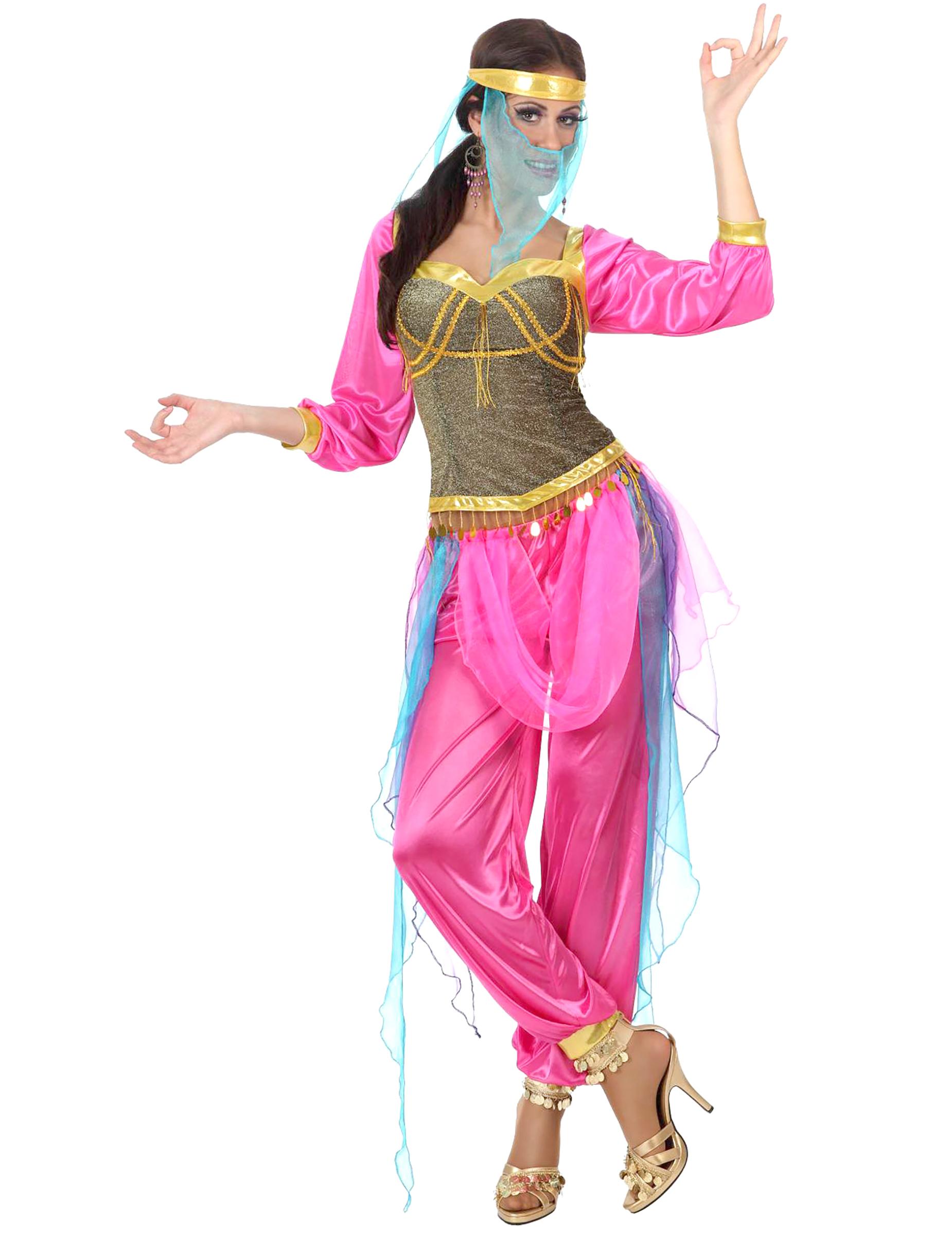 Orientalische Prinzessin Damenkostum Pink Gold Gunstige Faschings