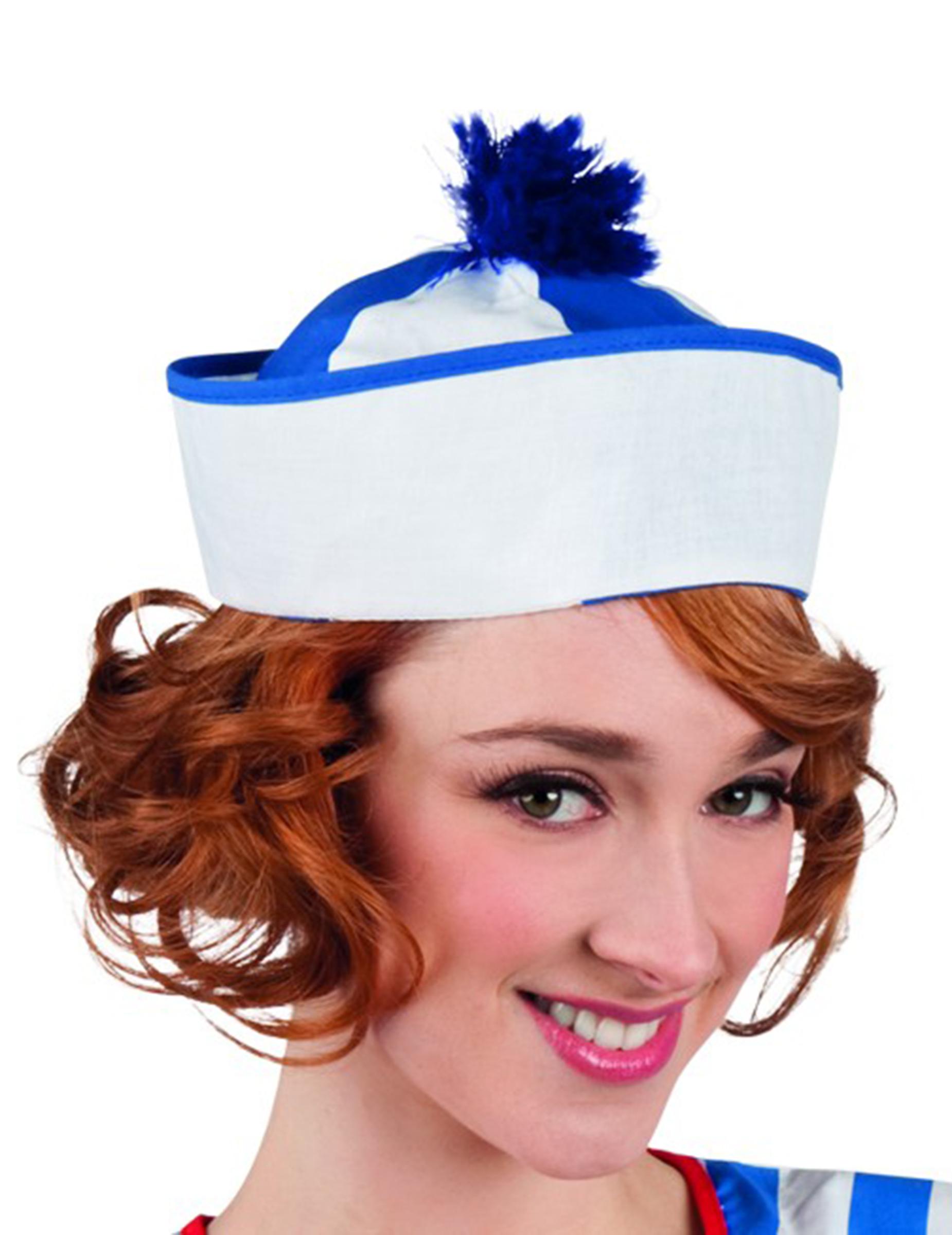 Marine Mütze in blau zum Kostüm Matrose zu Karneval Fasching