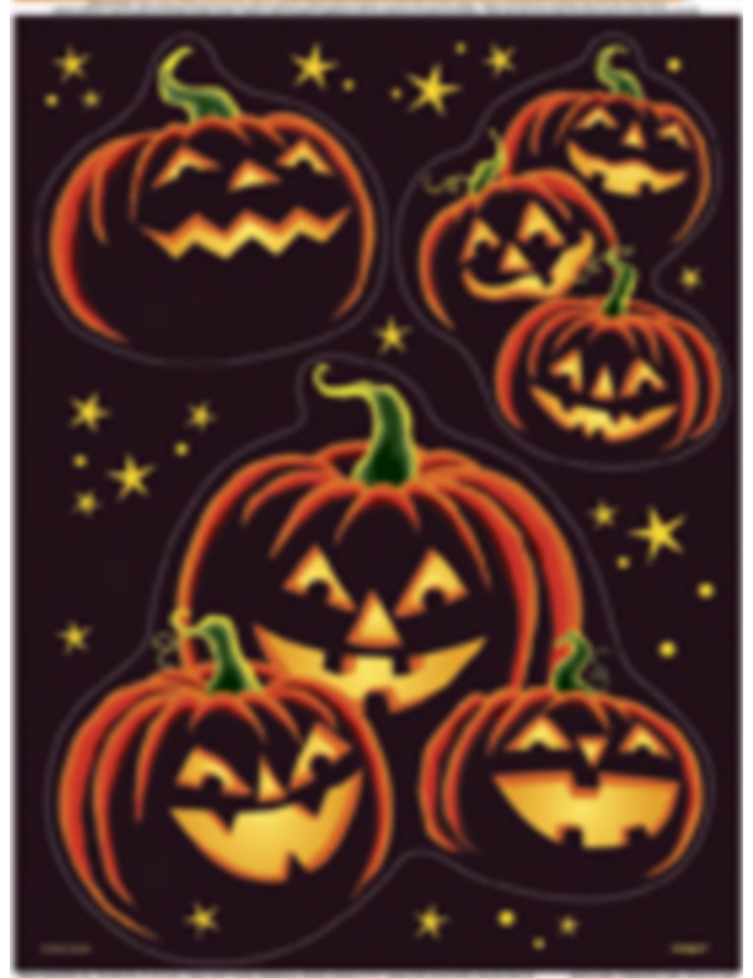 Halloween k rbis aufkleber fensterdeko schwarz orange g nstige faschings partydeko zubeh r - Halloween fensterdeko ...