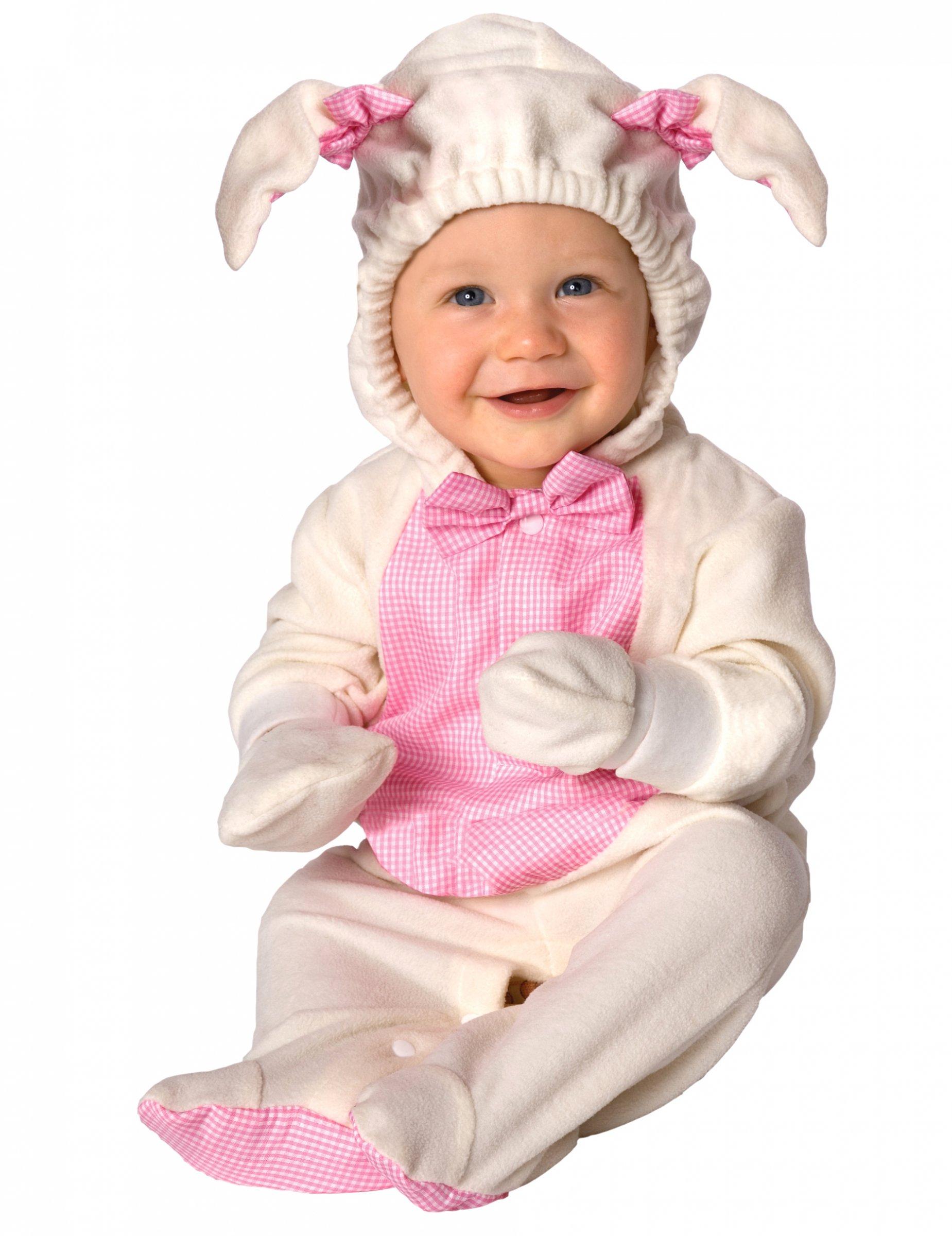 Susses Lamm Babykostum Schaf Weiss Rosa Gunstige Faschings Kostume