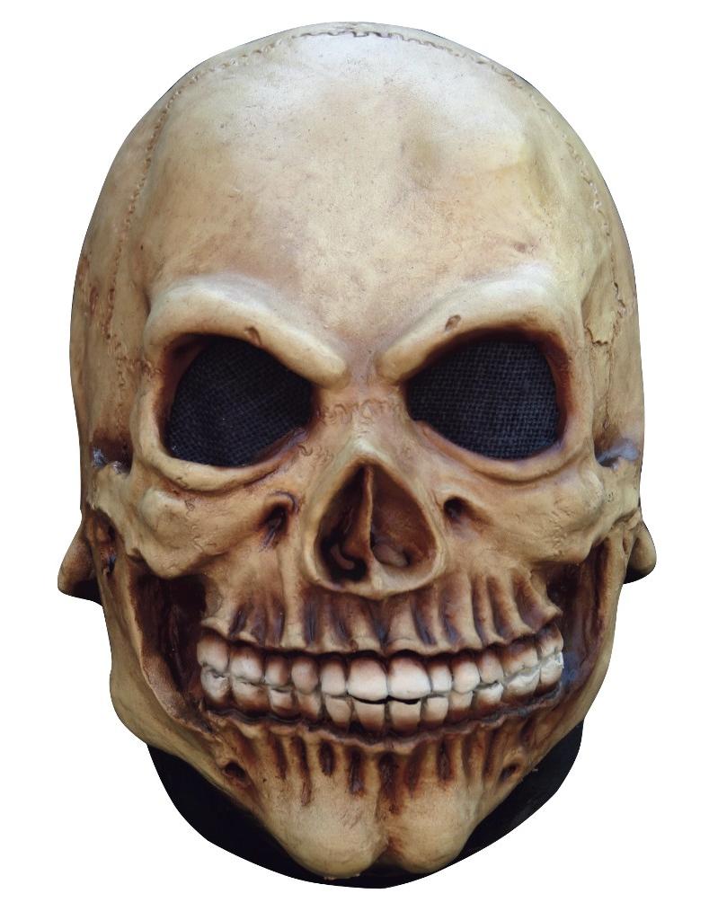 skelett halloweenmaske totenkopf beige  günstige