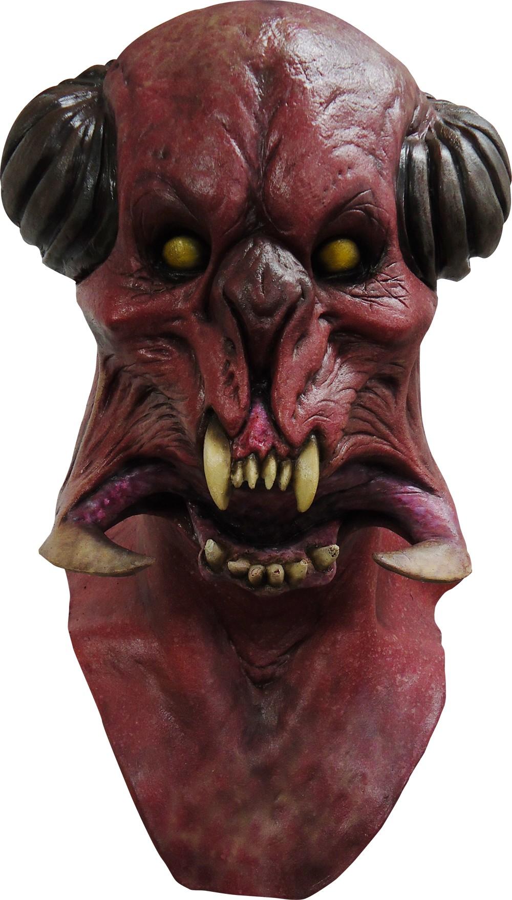 gruselige monster maske halloween rot schwarz beige g nstige faschings masken bei karneval. Black Bedroom Furniture Sets. Home Design Ideas