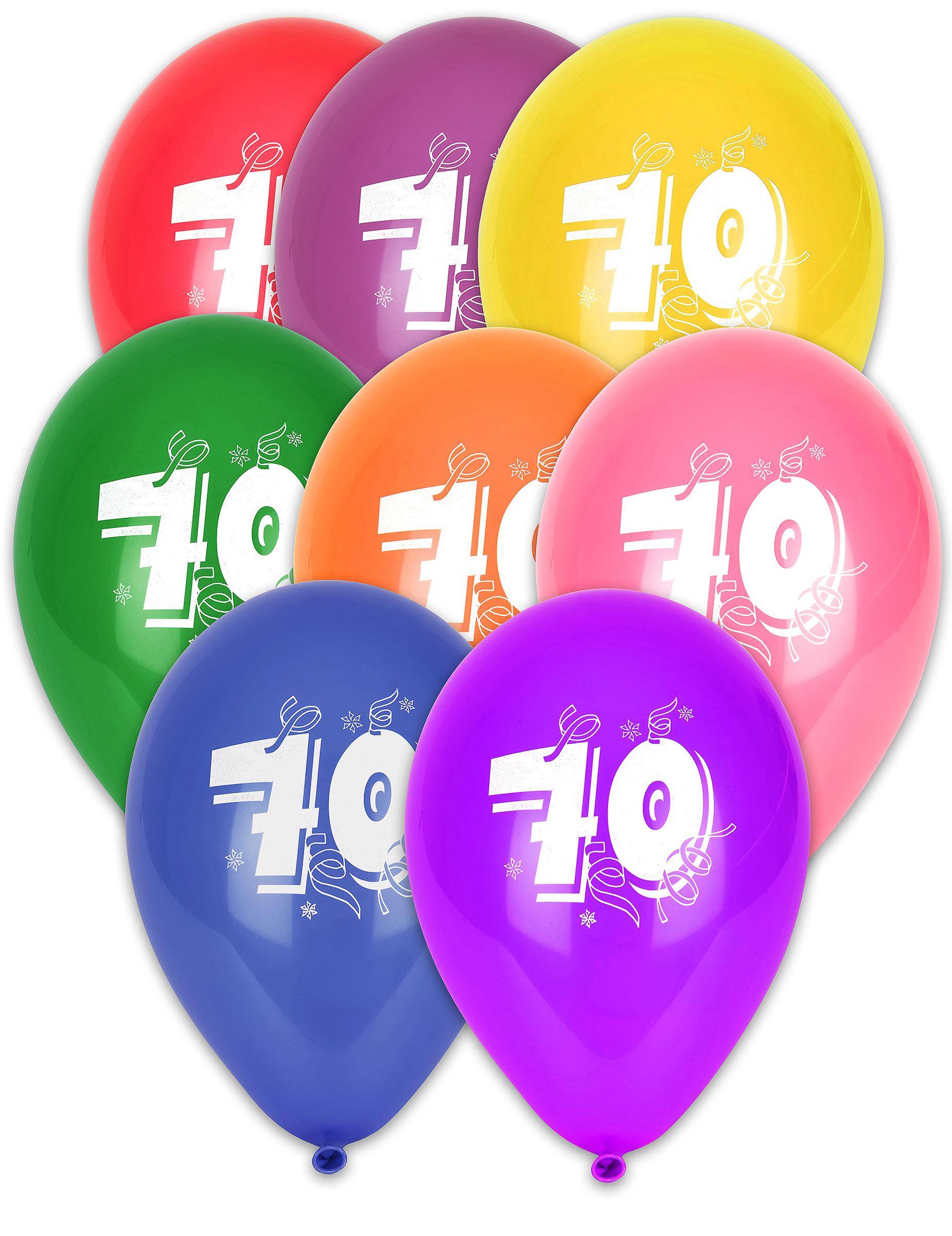 Deko Ballons Party Ballon bunt Luftballons Zahl 25 Geburtstag 8 St