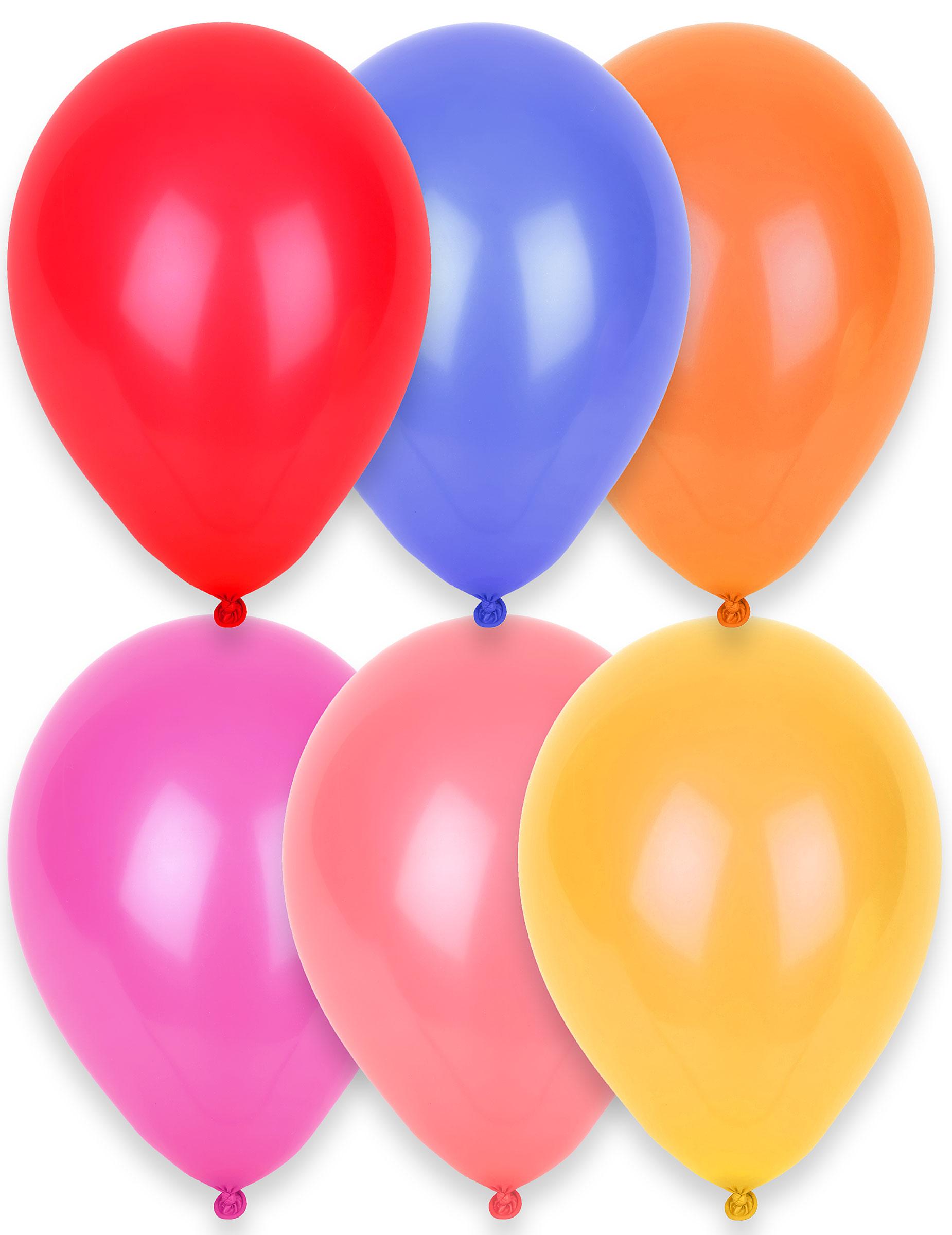 party luftballons party deko 24 st ck bunt 28cm g nstige faschings partydeko zubeh r bei. Black Bedroom Furniture Sets. Home Design Ideas