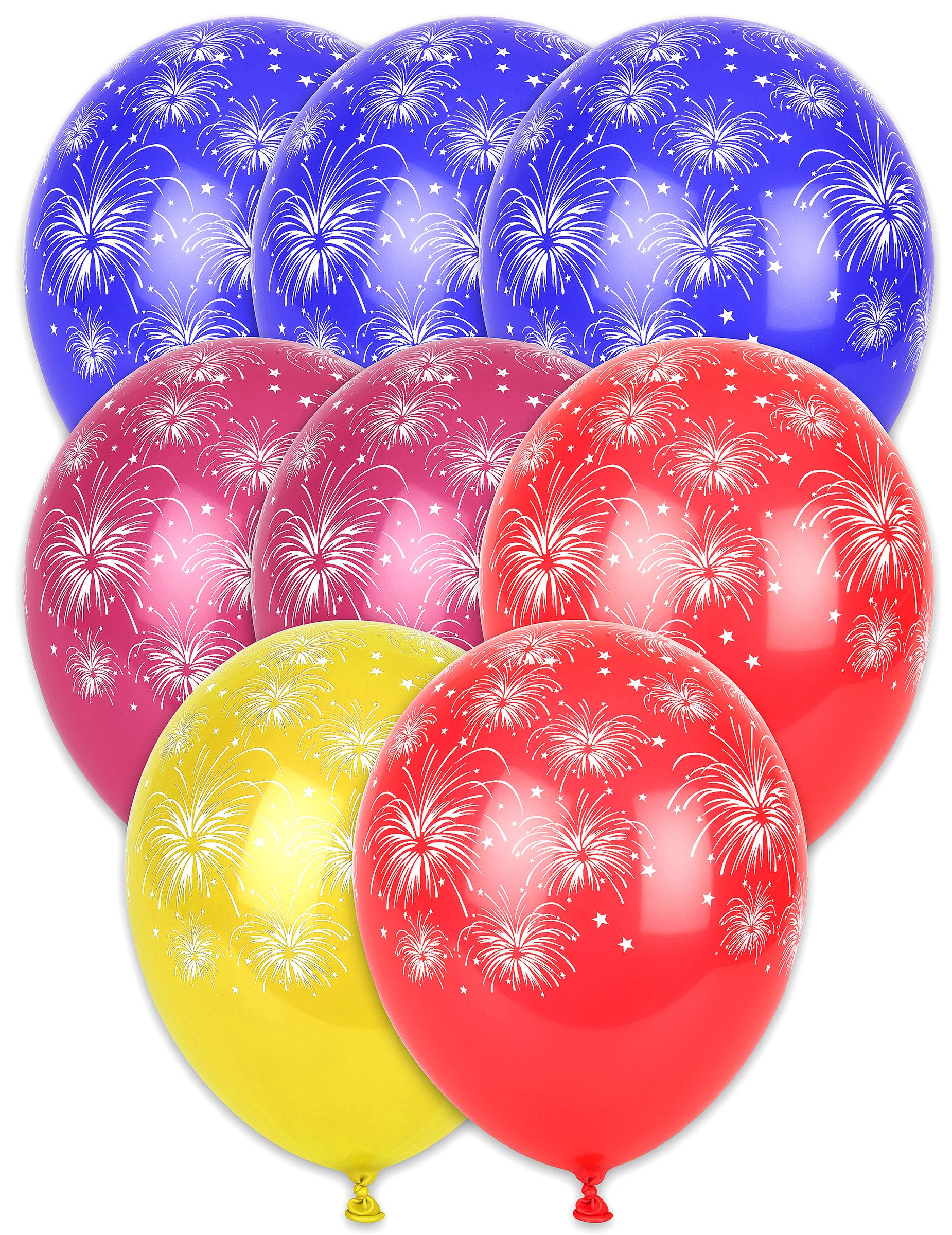 Silvester Party Dekoration Luftballons Mit Feuerwerk 8