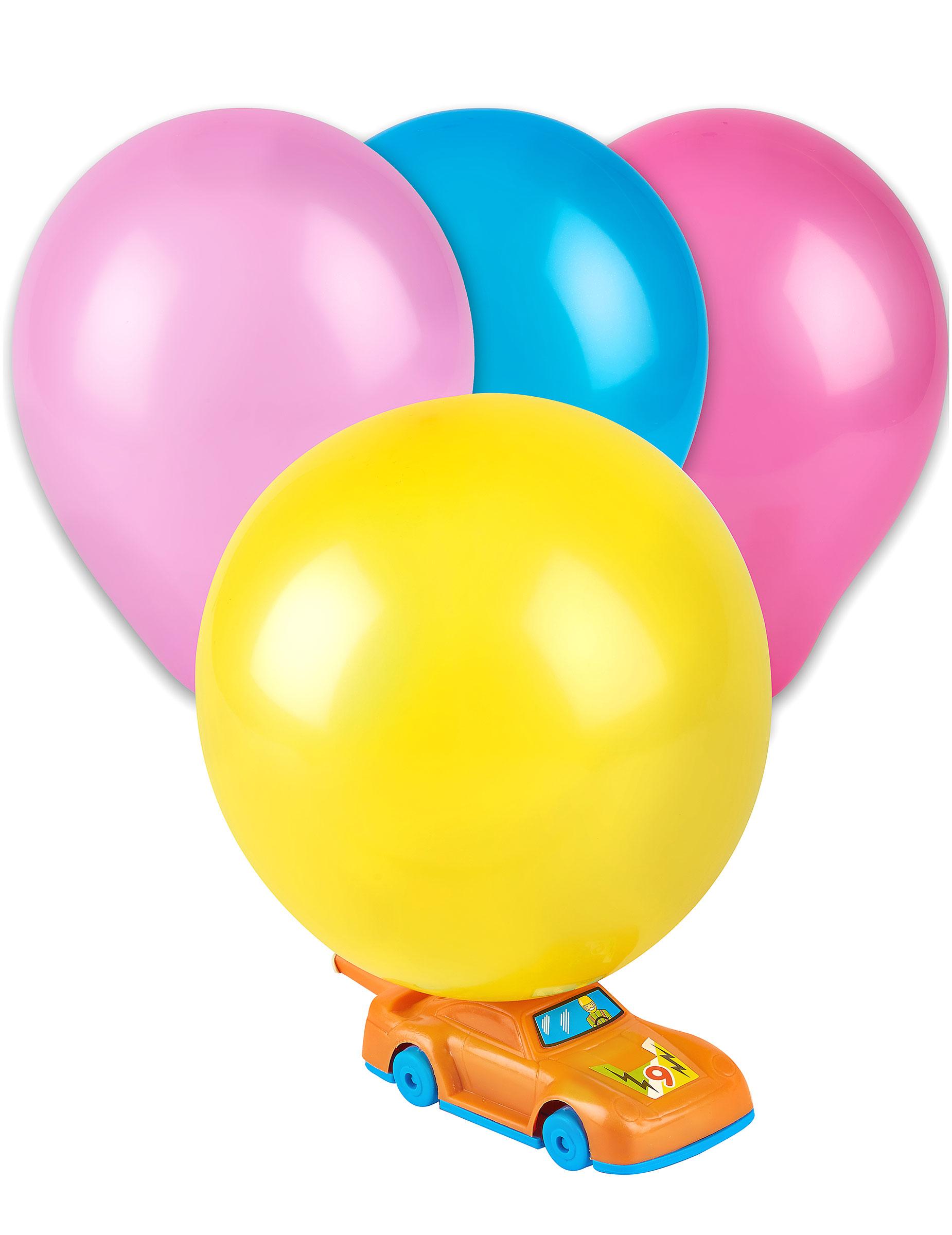 Party Spielzeug Auto mit Luftballons 6-teilig bunt