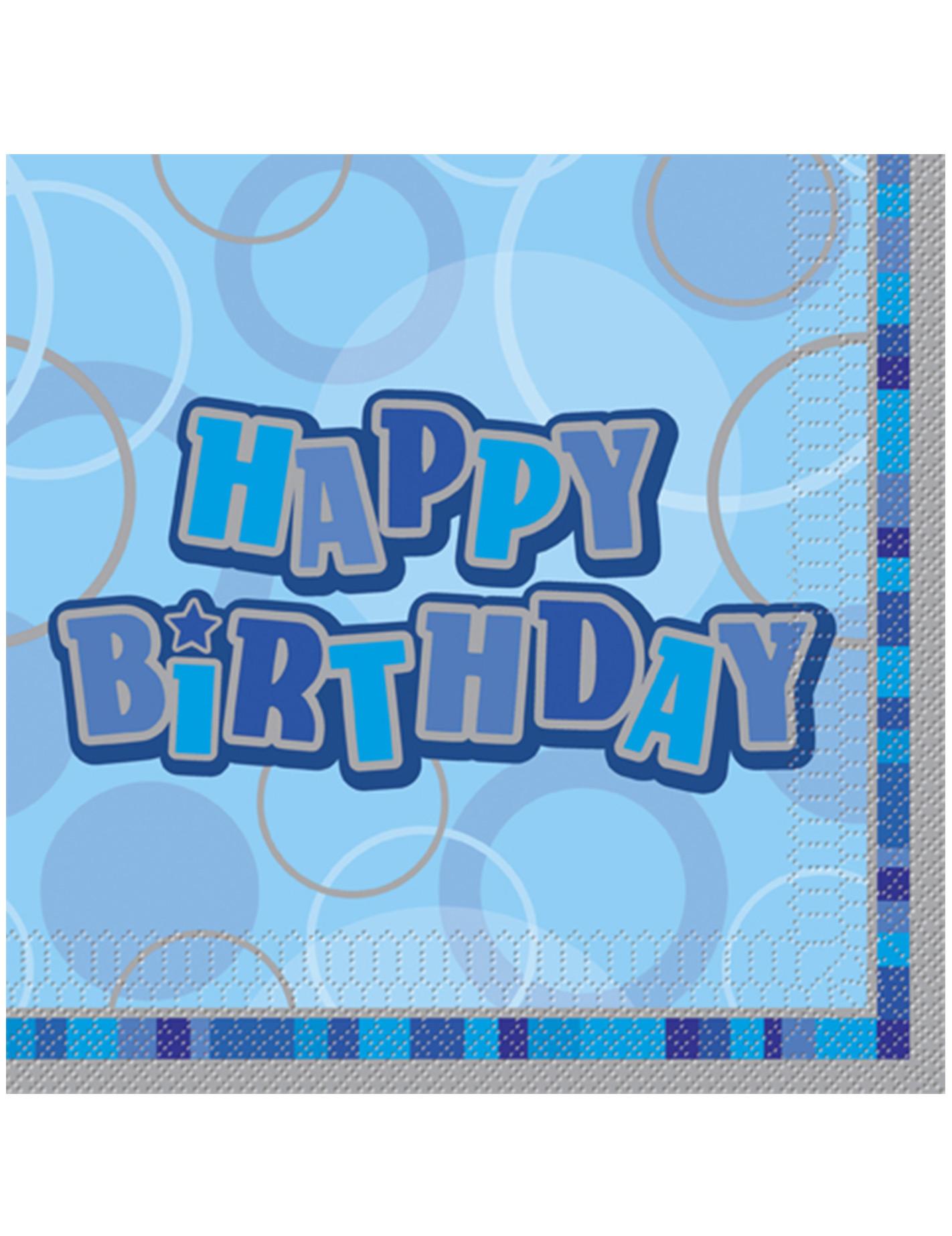 Happy Birthday Geburtstagsservietten Geburtstag Tischdeko 16 Stuck