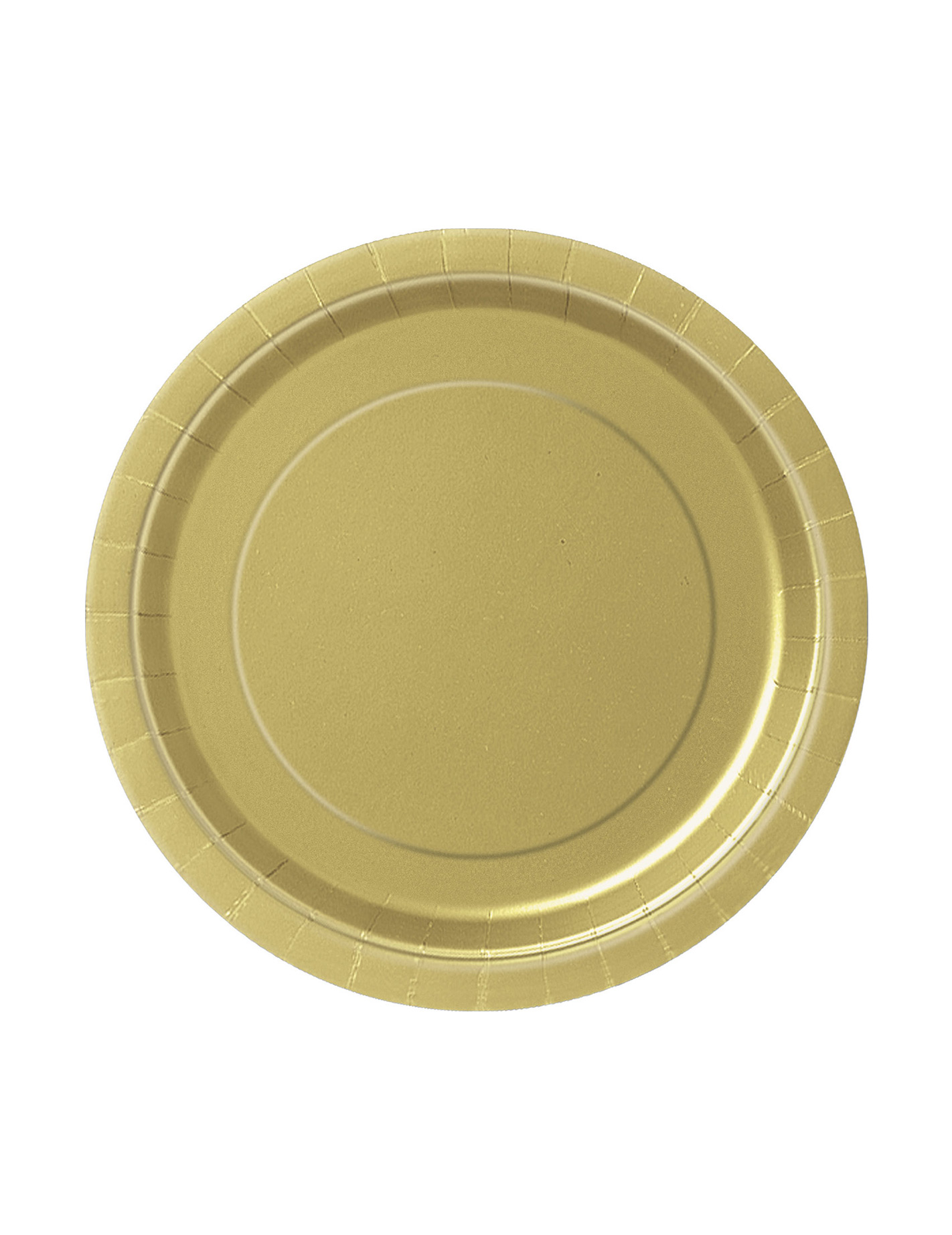Party pappteller 20 st ck gold 18cm g nstige faschings for Pappteller gold