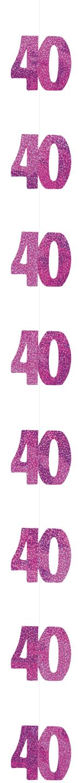 h ngedeko 40 jahre geburtstagsdeko pink 152 cm g nstige faschings partydeko zubeh r bei. Black Bedroom Furniture Sets. Home Design Ideas