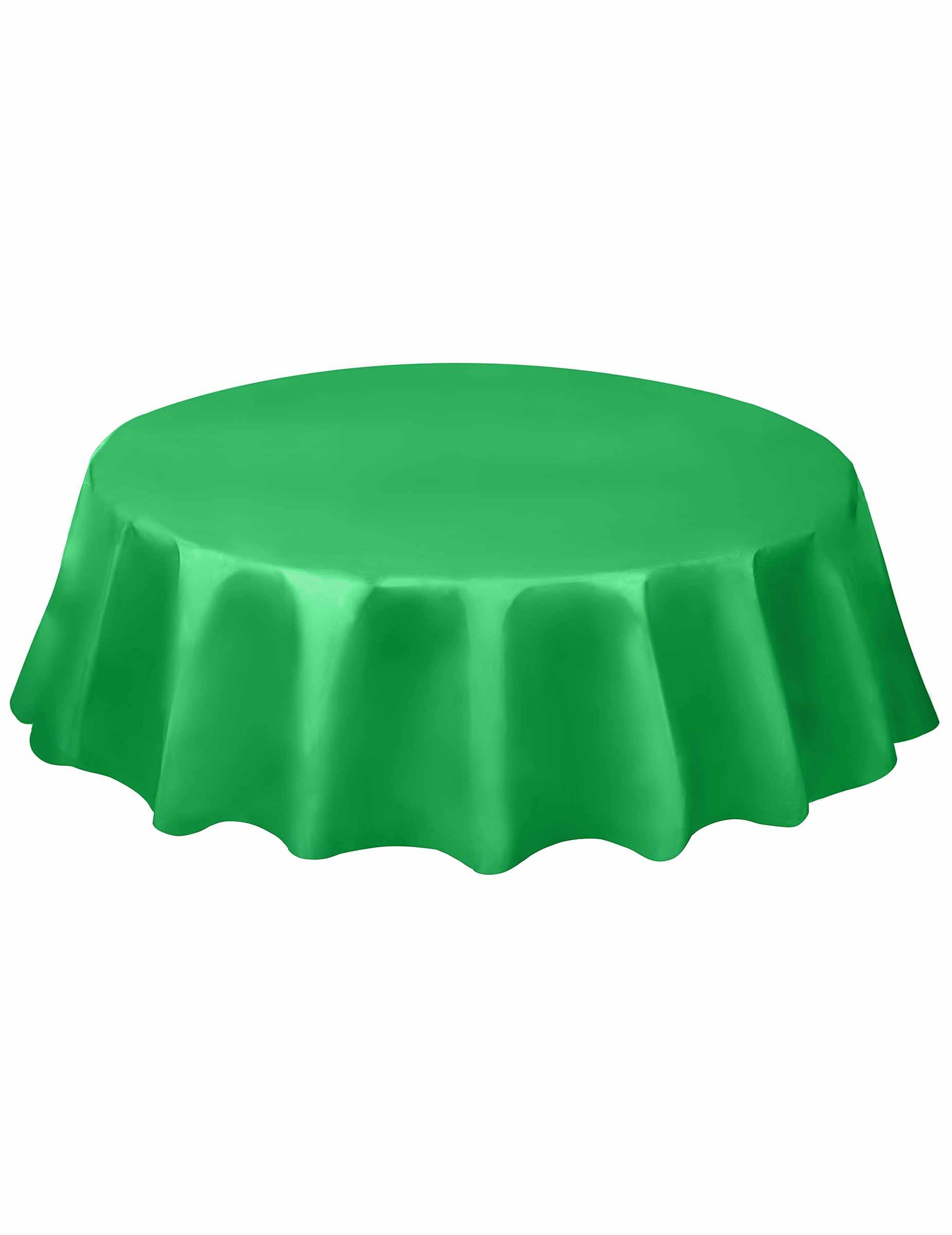 Runde Party Tischdecke Tischdeko Smaragdgrun 213cm Gunstige