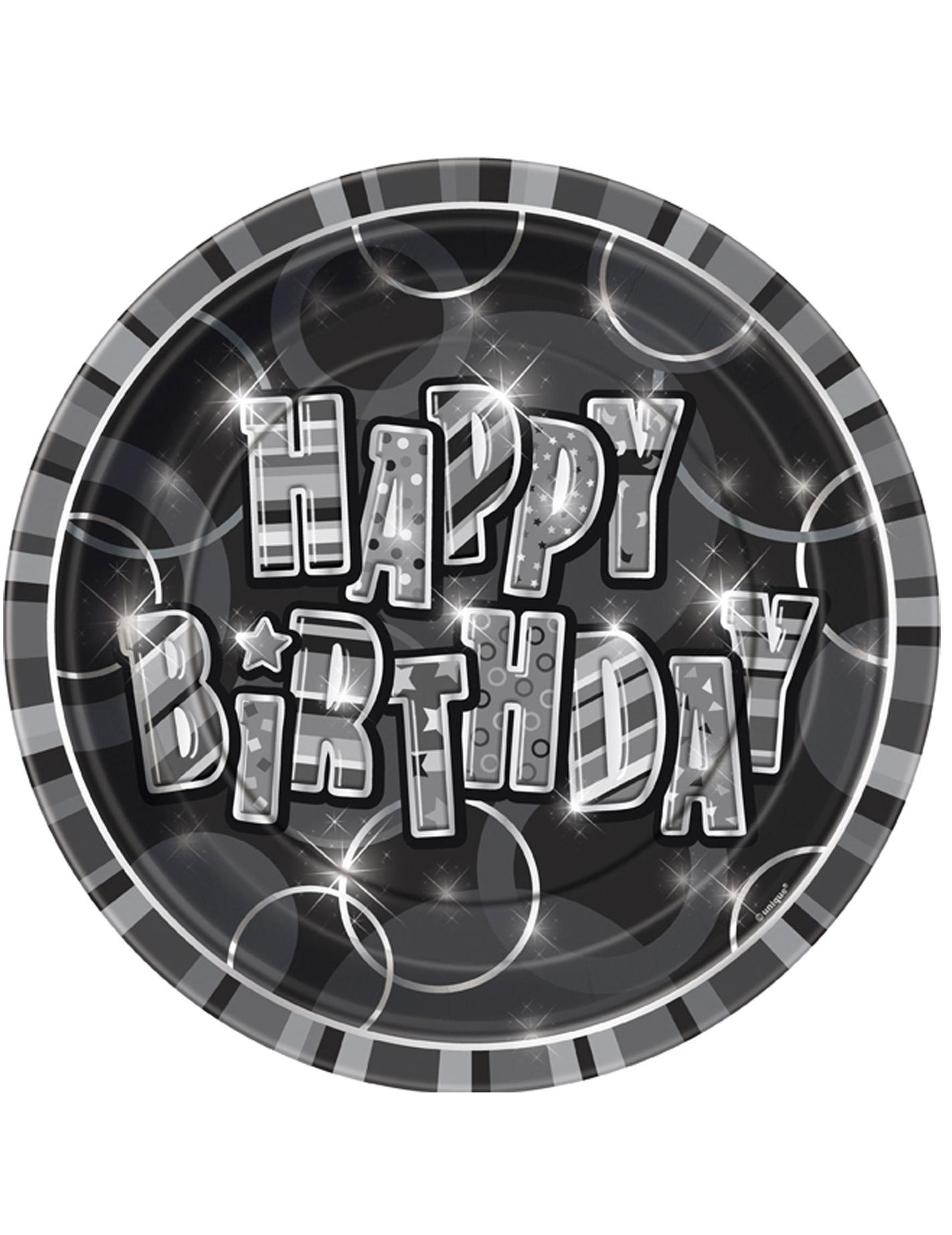 Geburtstagsteller Happy Birthday Geburtstag Tischdeko 8 Stuck