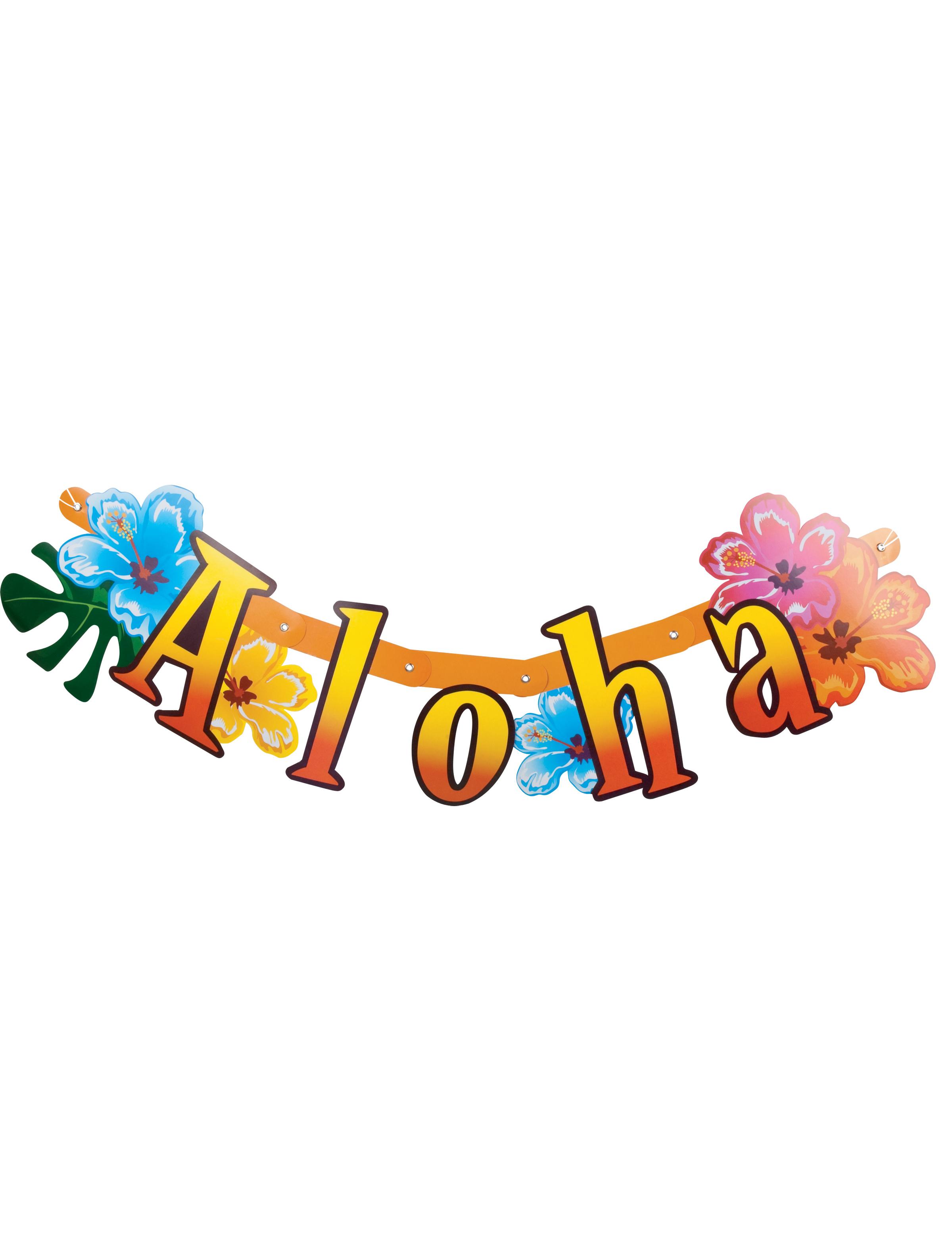 hawaii banner girlande s dsee party deko bunt 83x17cm g nstige faschings partydeko zubeh r. Black Bedroom Furniture Sets. Home Design Ideas