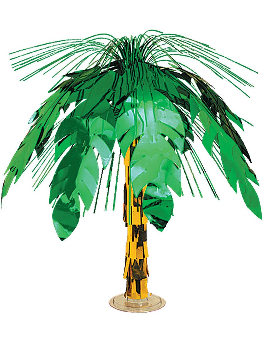 tischdeko hawaii palme gr n braun 46cm g nstige faschings partydeko zubeh r bei karneval. Black Bedroom Furniture Sets. Home Design Ideas