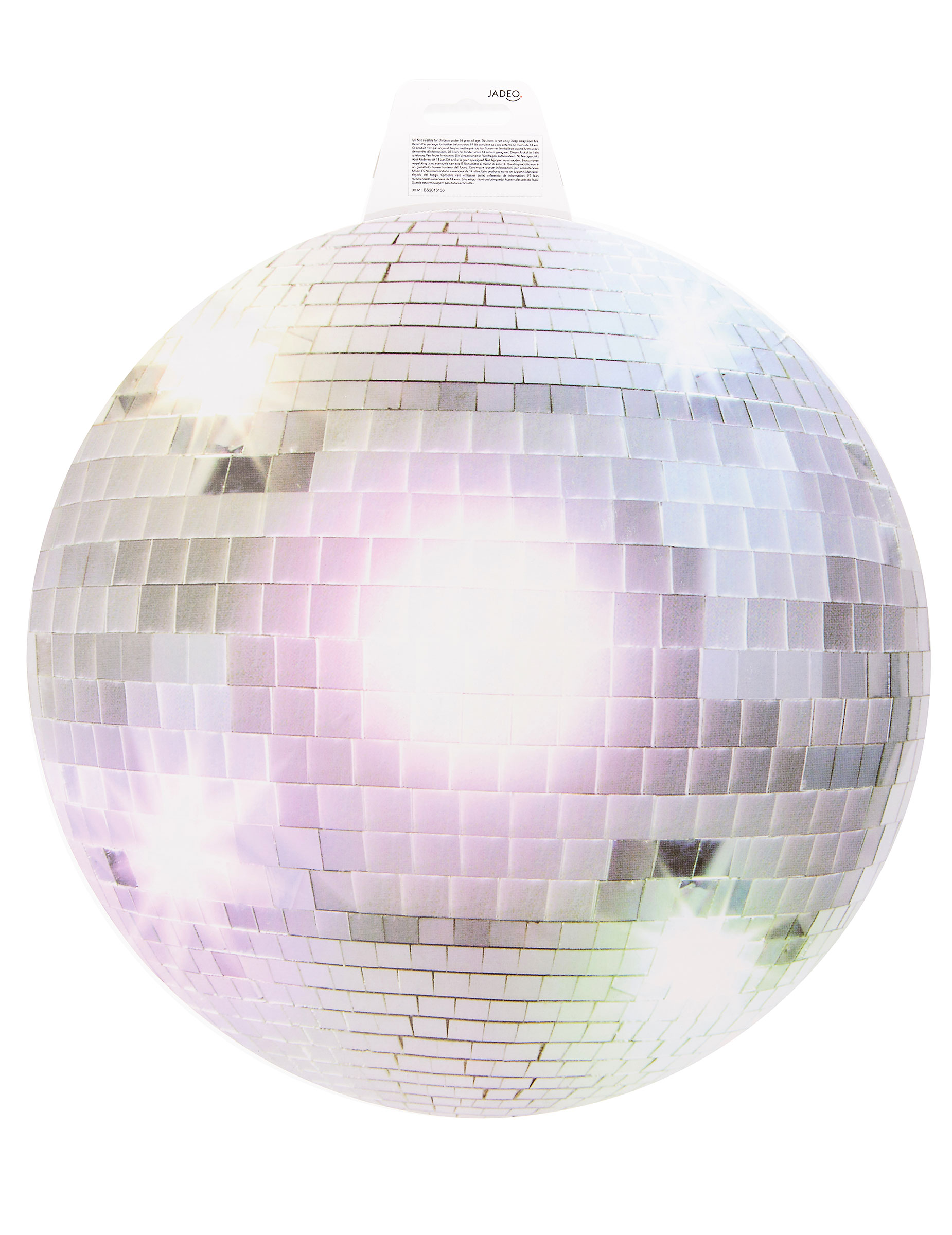 Discokugel-Scheibe Party-Deko silber 34cm , günstige Faschings ...