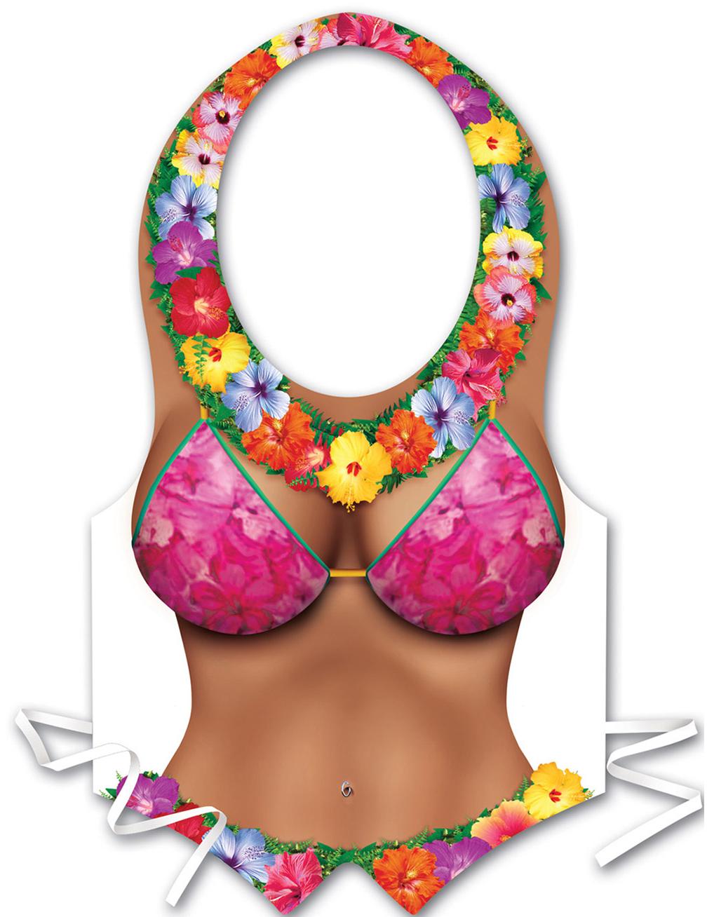 Sexy Schürze Hawaii Frau Für Damen Bunt Günstige Faschings
