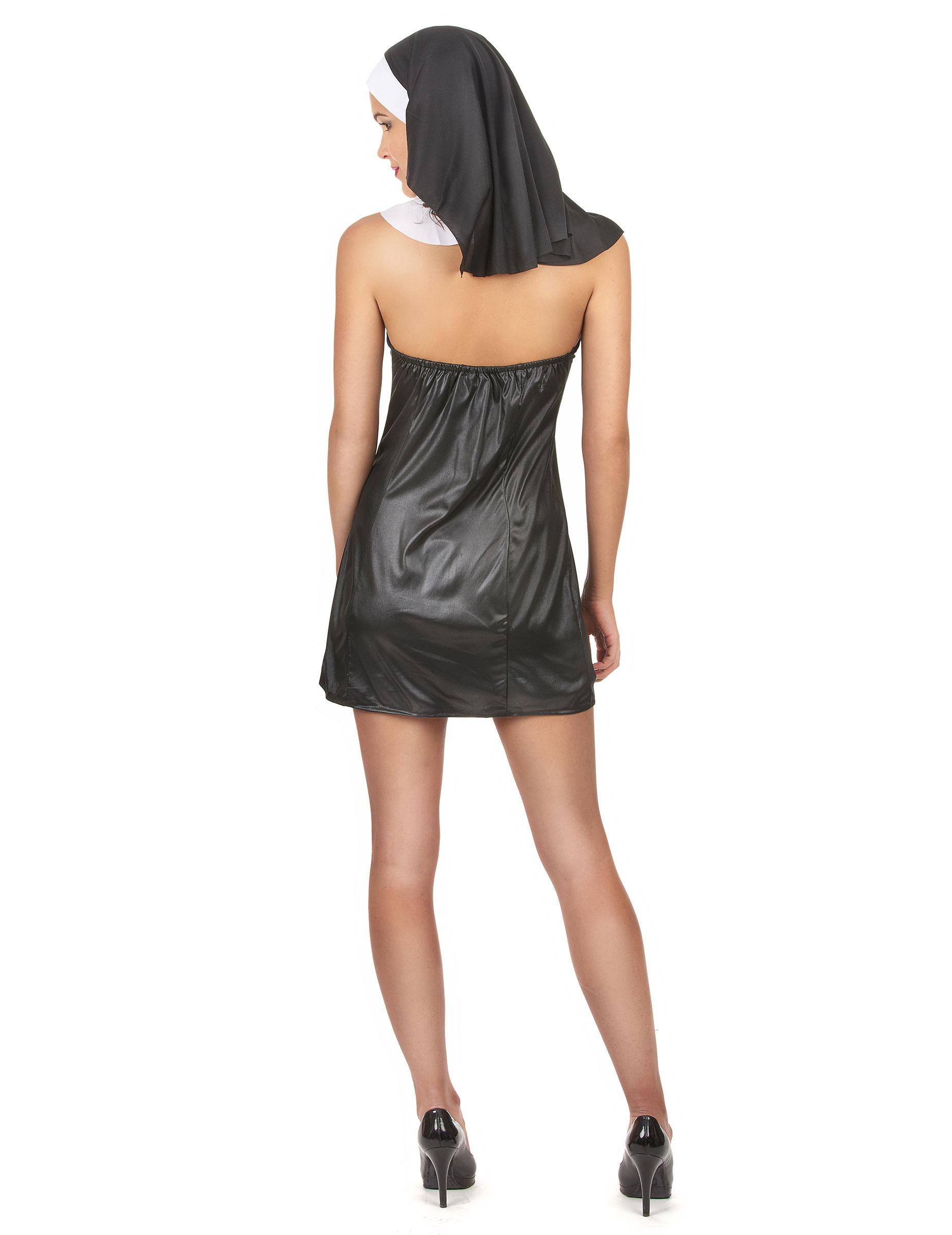 sexy nonne damenkost m schwarz weiss g nstige faschings kost me bei karneval megastore. Black Bedroom Furniture Sets. Home Design Ideas
