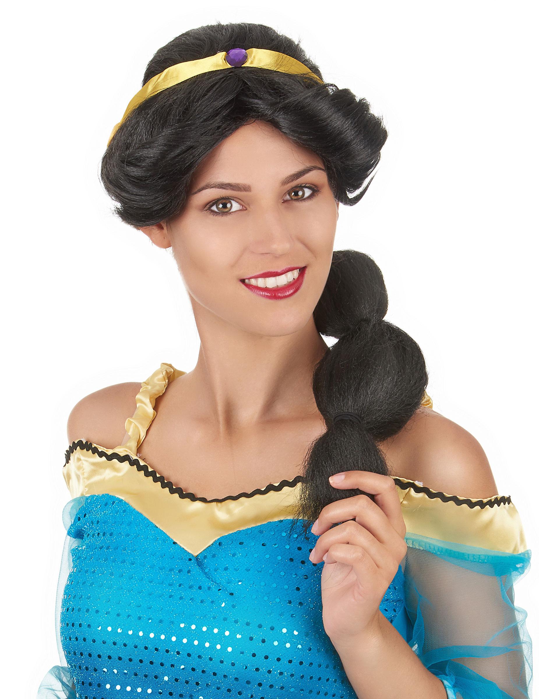 Orientalische Prinzessin Damenperucke Schwarz Gold Gunstige