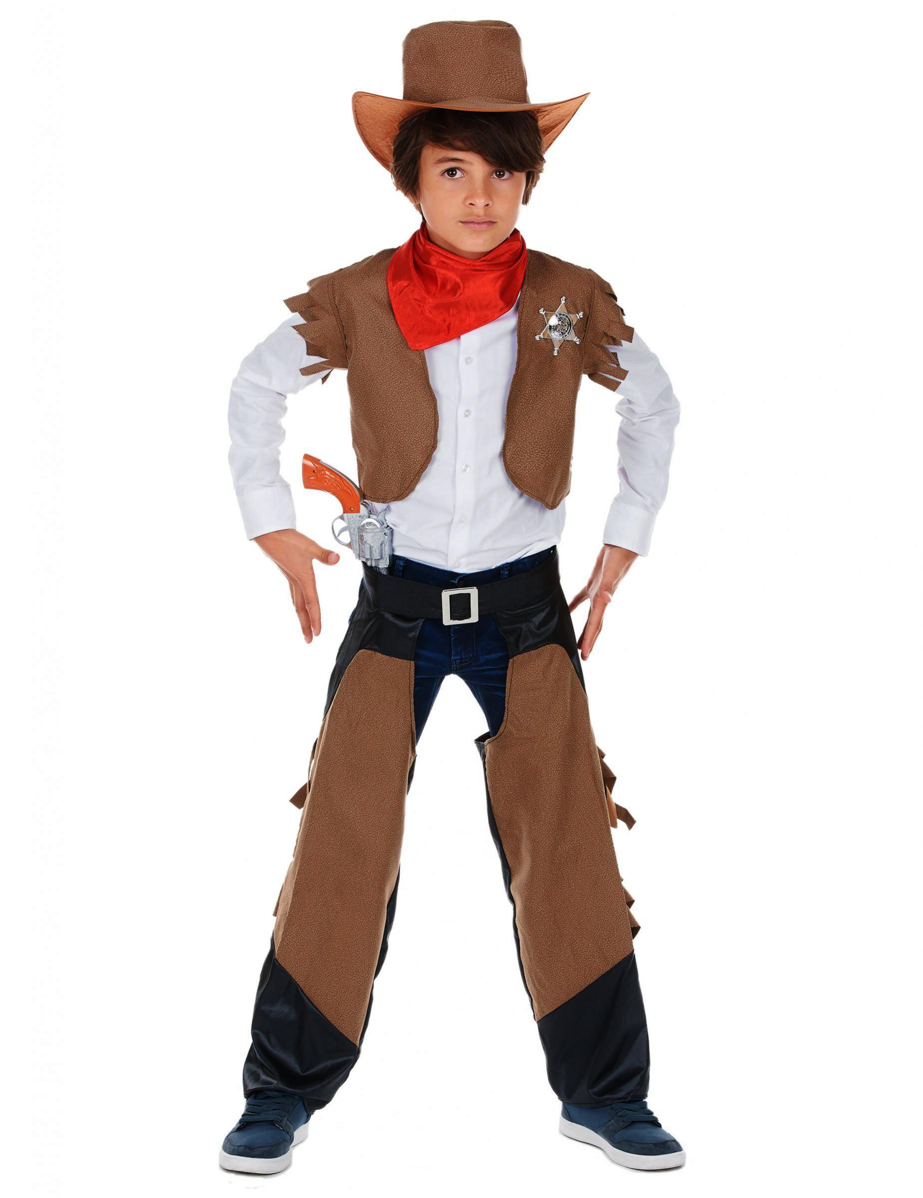Cowboy Kinder Kostum Braun Schwarz Gunstige Faschings Kostume Bei