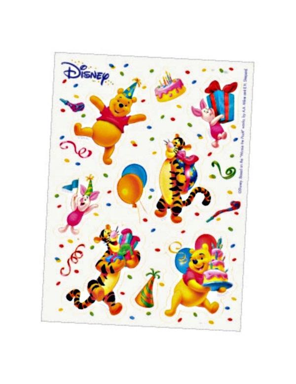 Winnie Puuh™-Aufkleber 6 Stück , günstige Faschings Partydeko ...