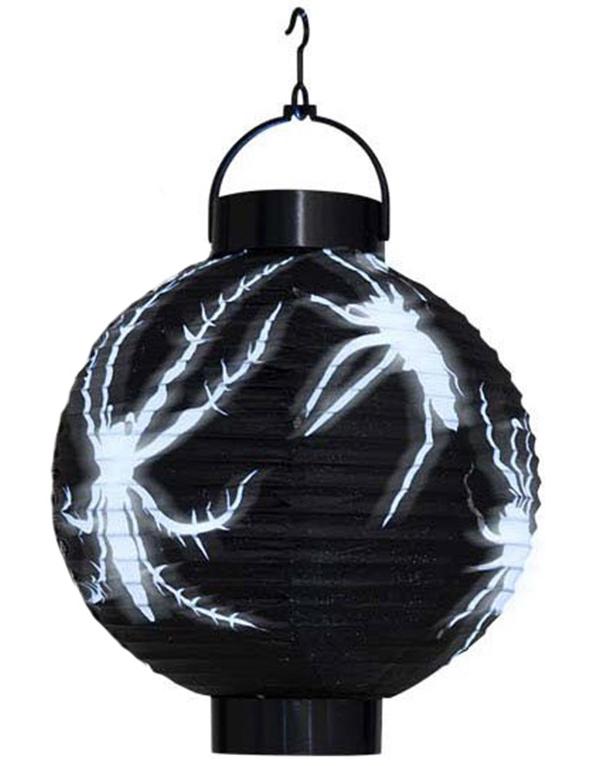 halloween laterne spinne schwarz weiss g nstige faschings partydeko zubeh r bei karneval. Black Bedroom Furniture Sets. Home Design Ideas