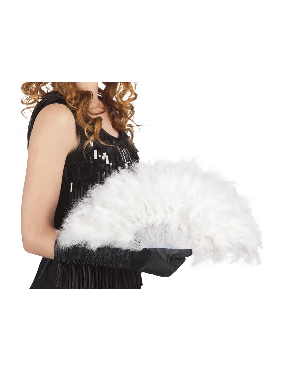 federf cher 20er jahre accessoire weiss 25cm g nstige. Black Bedroom Furniture Sets. Home Design Ideas