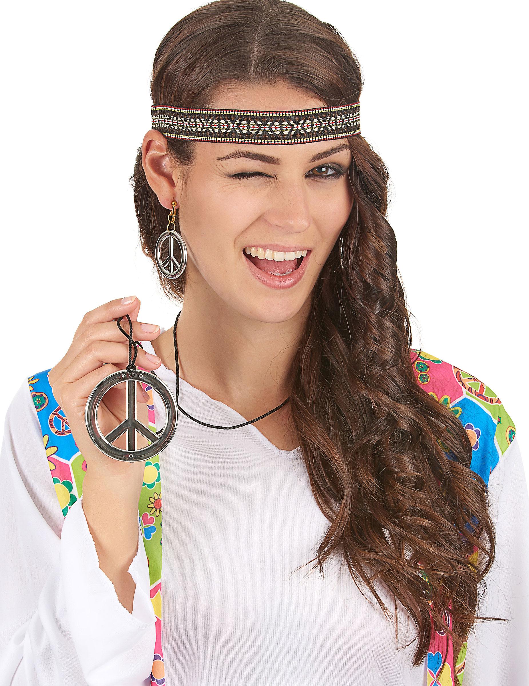 Peace kette und ohrringe
